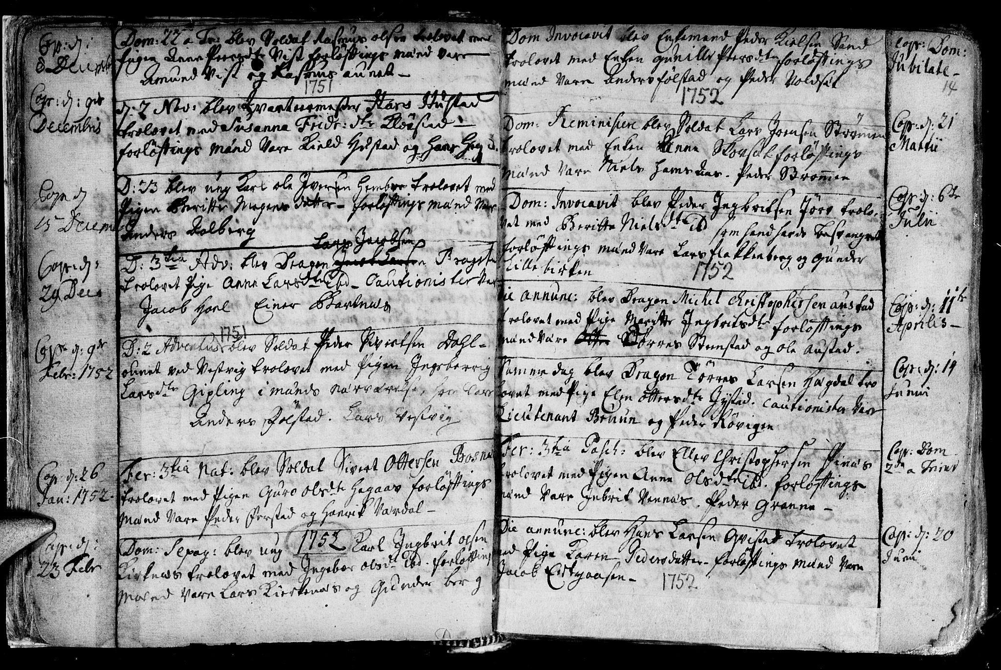 SAT, Ministerialprotokoller, klokkerbøker og fødselsregistre - Nord-Trøndelag, 730/L0272: Ministerialbok nr. 730A01, 1733-1764, s. 14