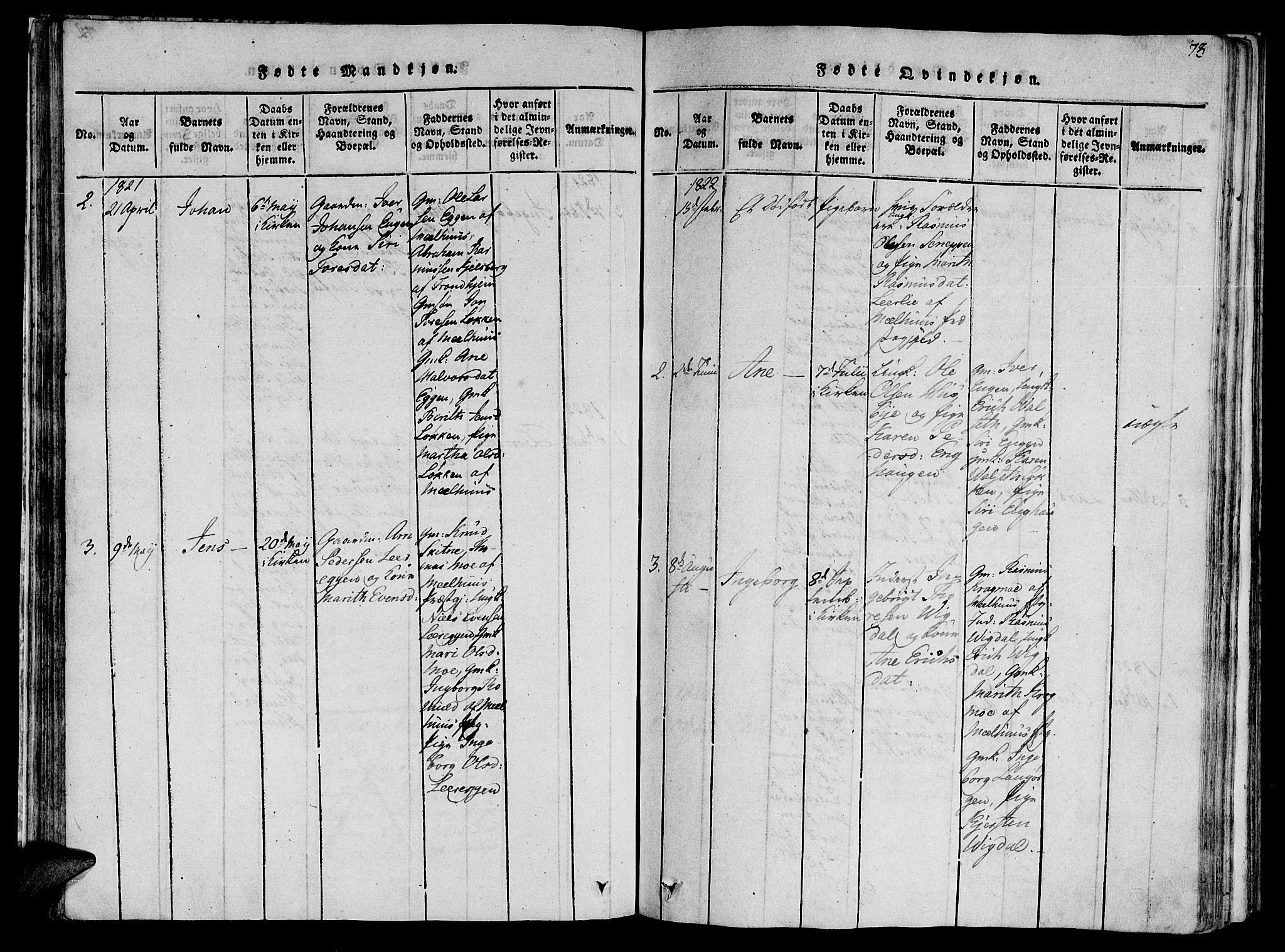 SAT, Ministerialprotokoller, klokkerbøker og fødselsregistre - Sør-Trøndelag, 612/L0373: Ministerialbok nr. 612A06 /2, 1816-1828, s. 73