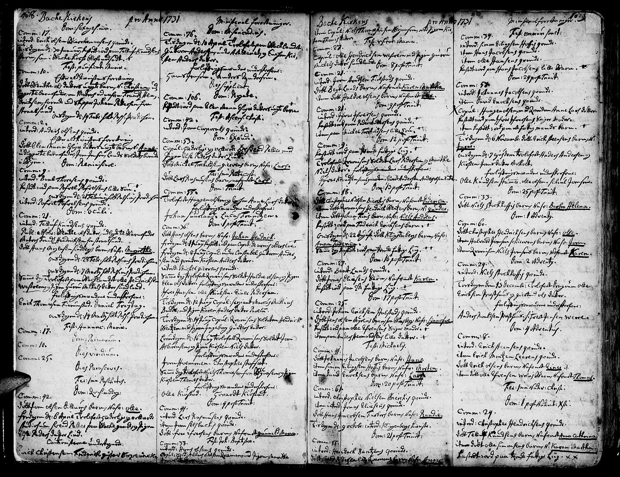 SAT, Ministerialprotokoller, klokkerbøker og fødselsregistre - Sør-Trøndelag, 606/L0276: Ministerialbok nr. 606A01 /2, 1727-1779, s. 8-9
