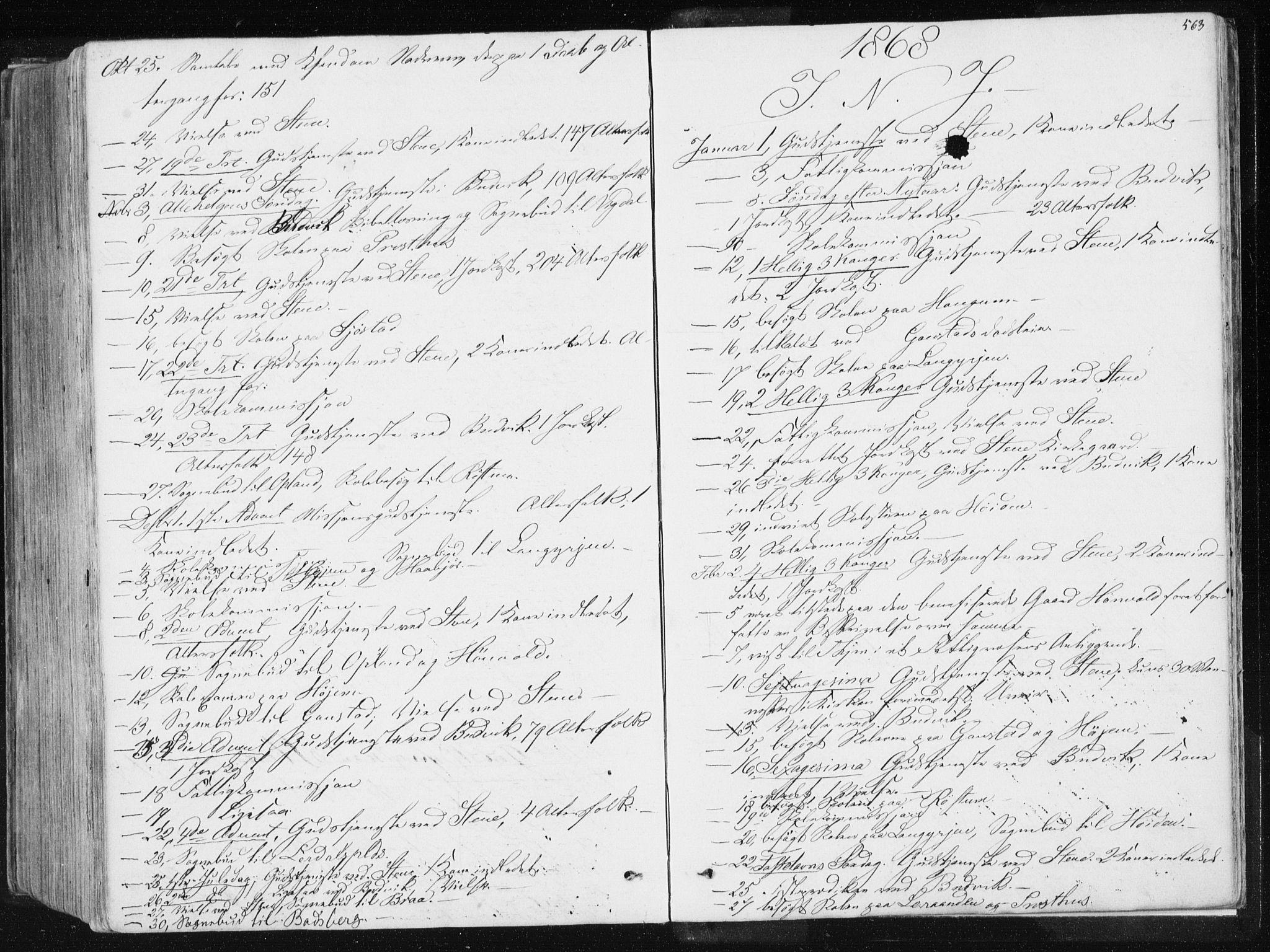 SAT, Ministerialprotokoller, klokkerbøker og fødselsregistre - Sør-Trøndelag, 612/L0377: Ministerialbok nr. 612A09, 1859-1877, s. 563