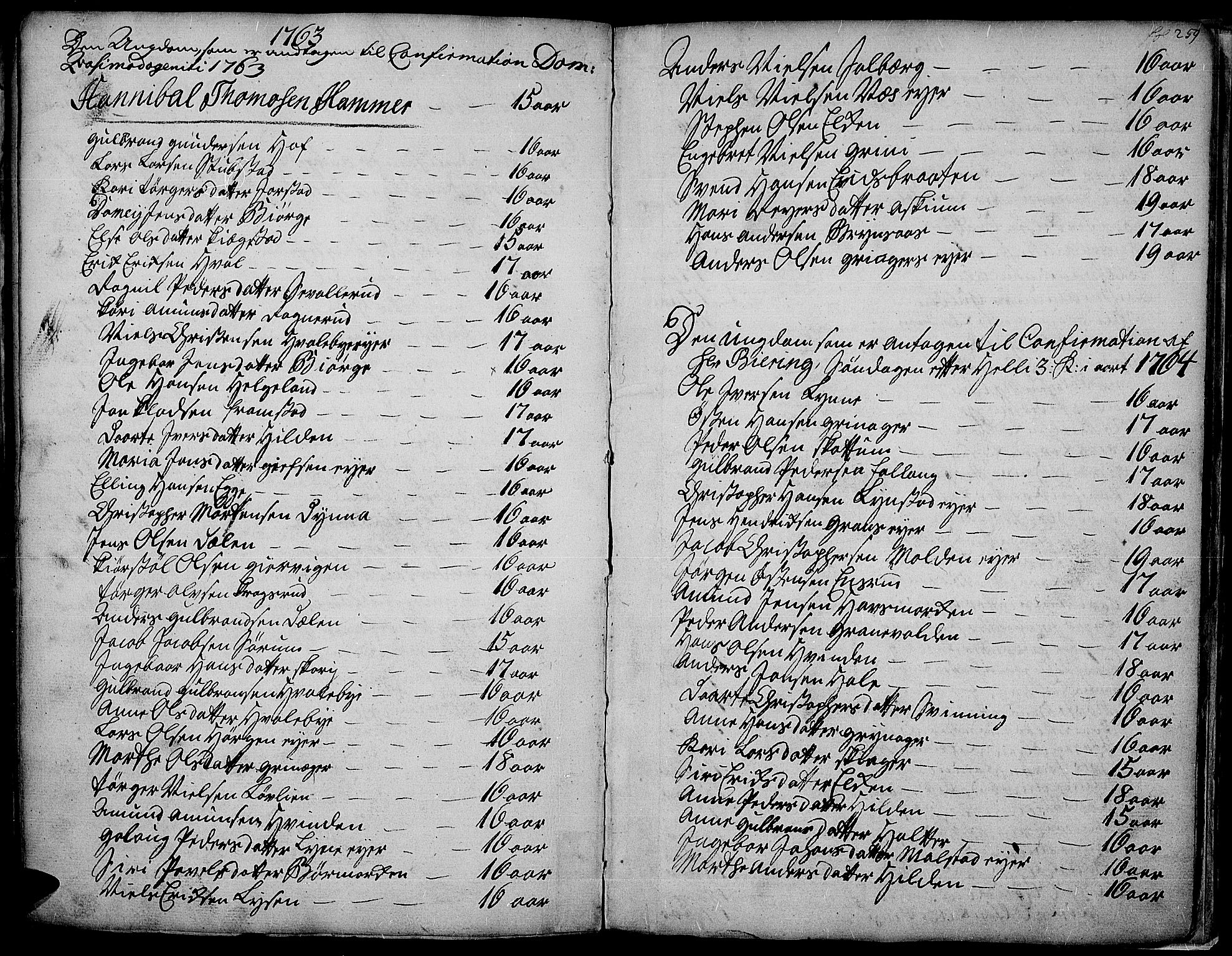SAH, Gran prestekontor, Ministerialbok nr. 4, 1759-1775, s. 259