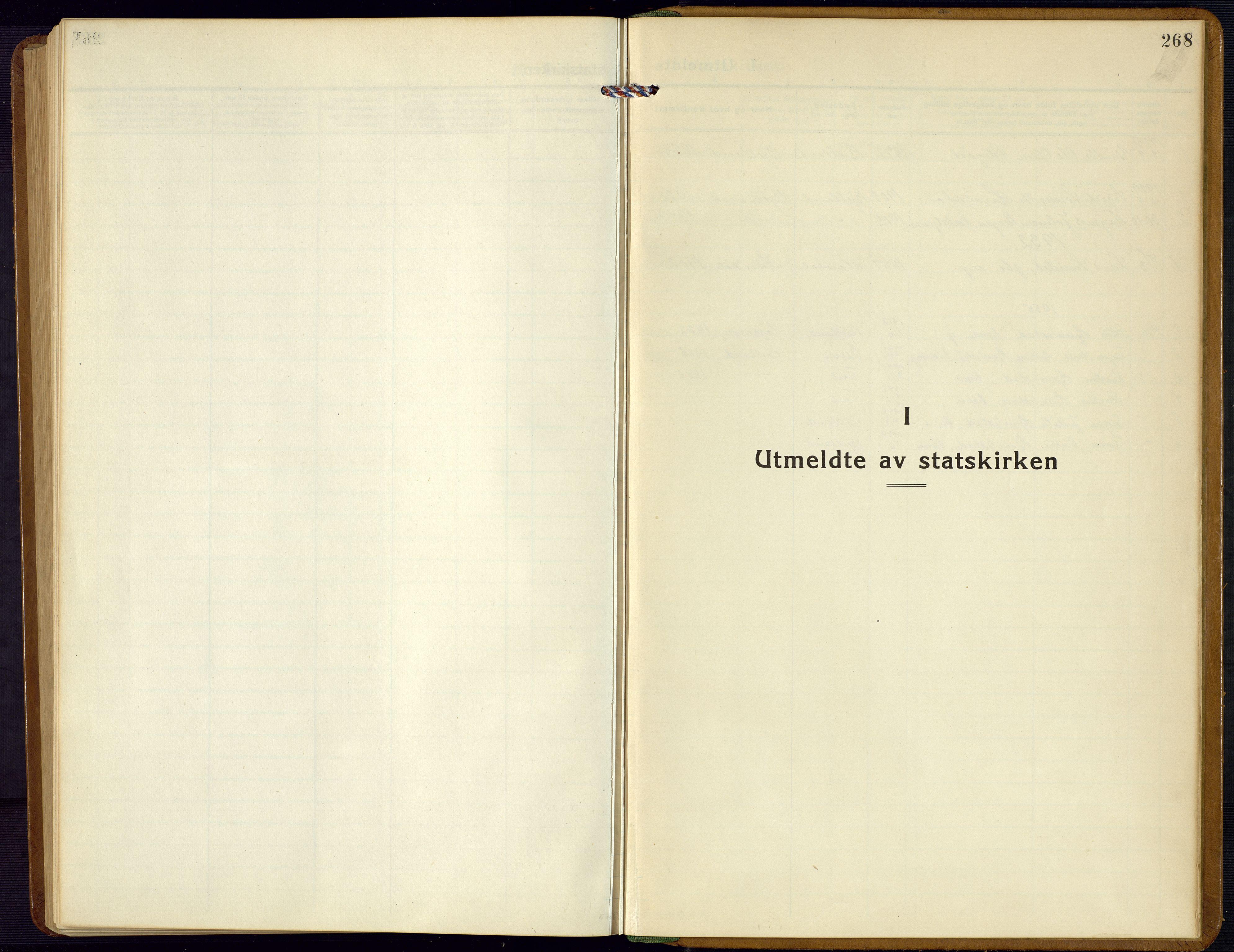 SAK, Bjelland sokneprestkontor, F/Fb/Fba/L0006: Klokkerbok nr. B 6, 1923-1956, s. 268