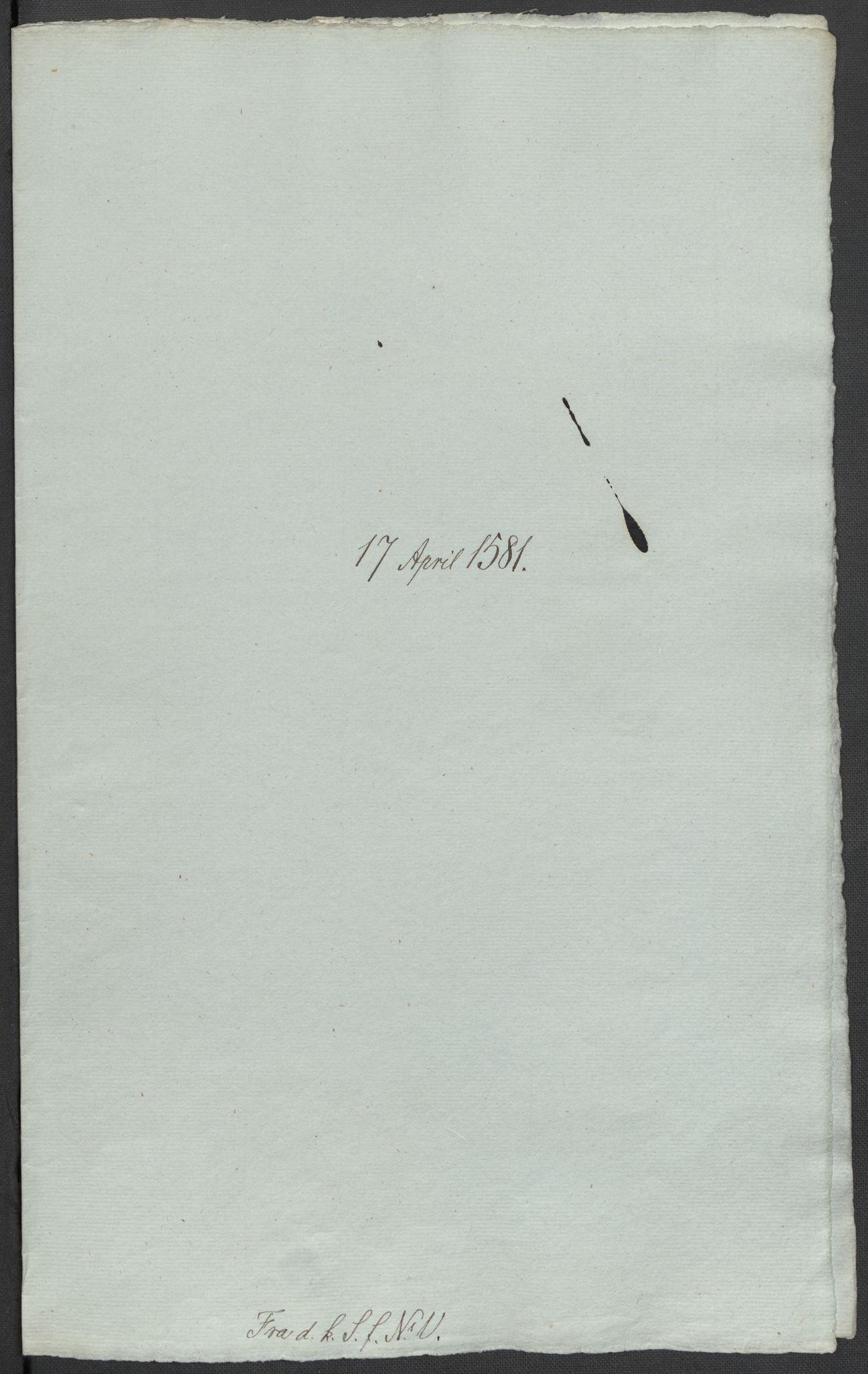 RA, Riksarkivets diplomsamling, F02/L0083: Dokumenter, 1581, s. 14