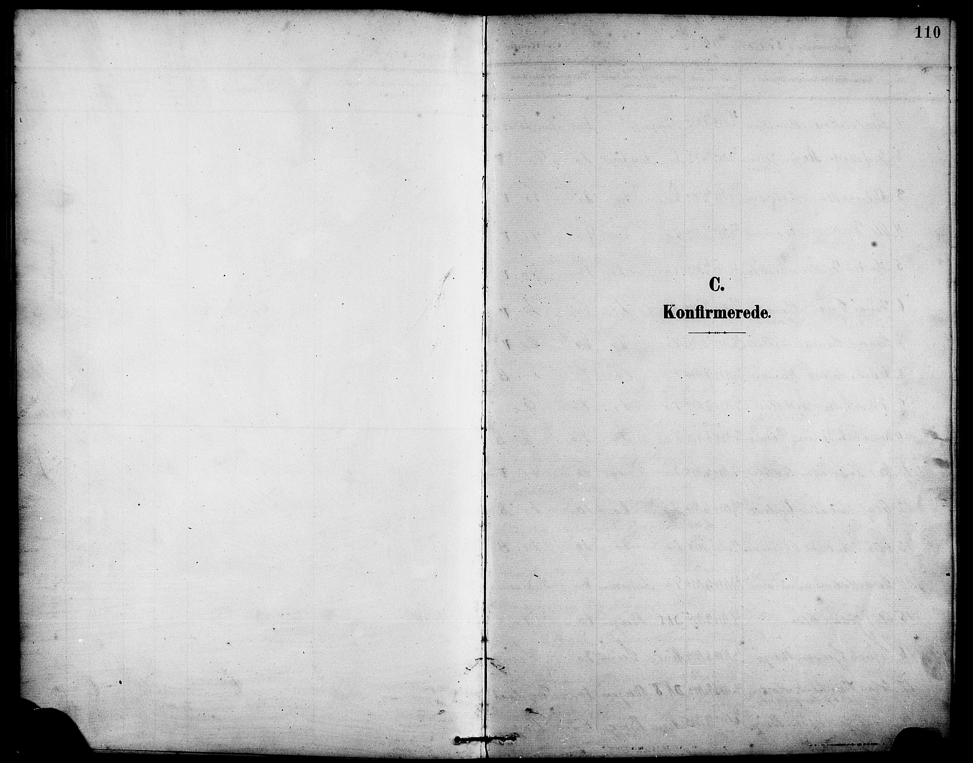 SAB, Arna Sokneprestembete, H/Ha/Hab: Klokkerbok nr. A 4, 1898-1910, s. 110