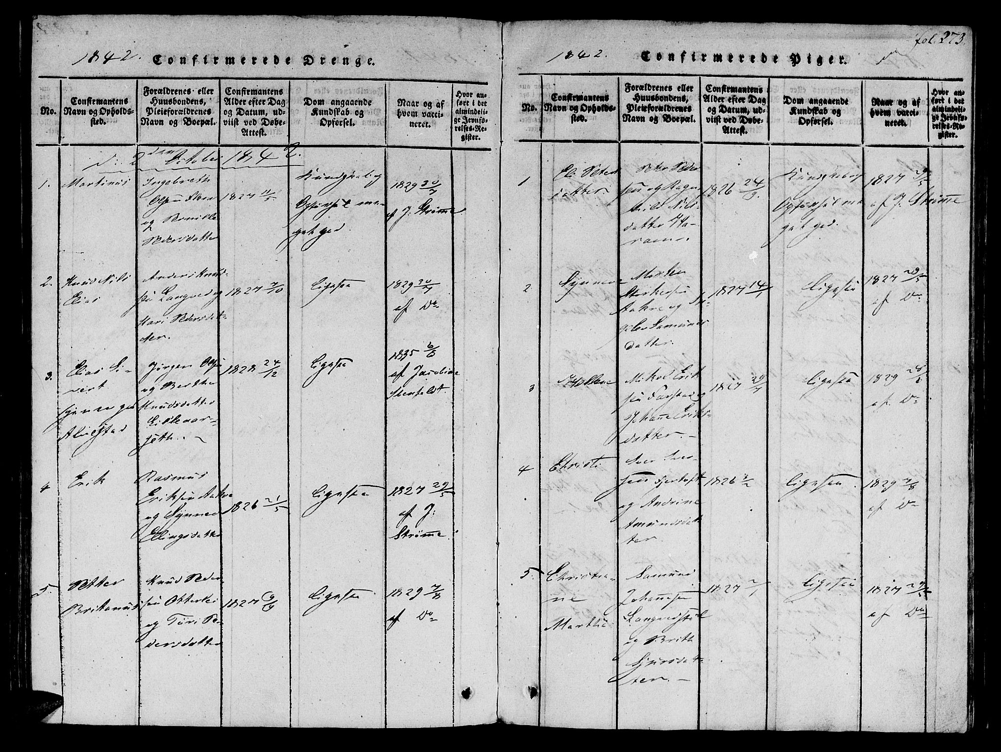 SAT, Ministerialprotokoller, klokkerbøker og fødselsregistre - Møre og Romsdal, 536/L0495: Ministerialbok nr. 536A04, 1818-1847, s. 273