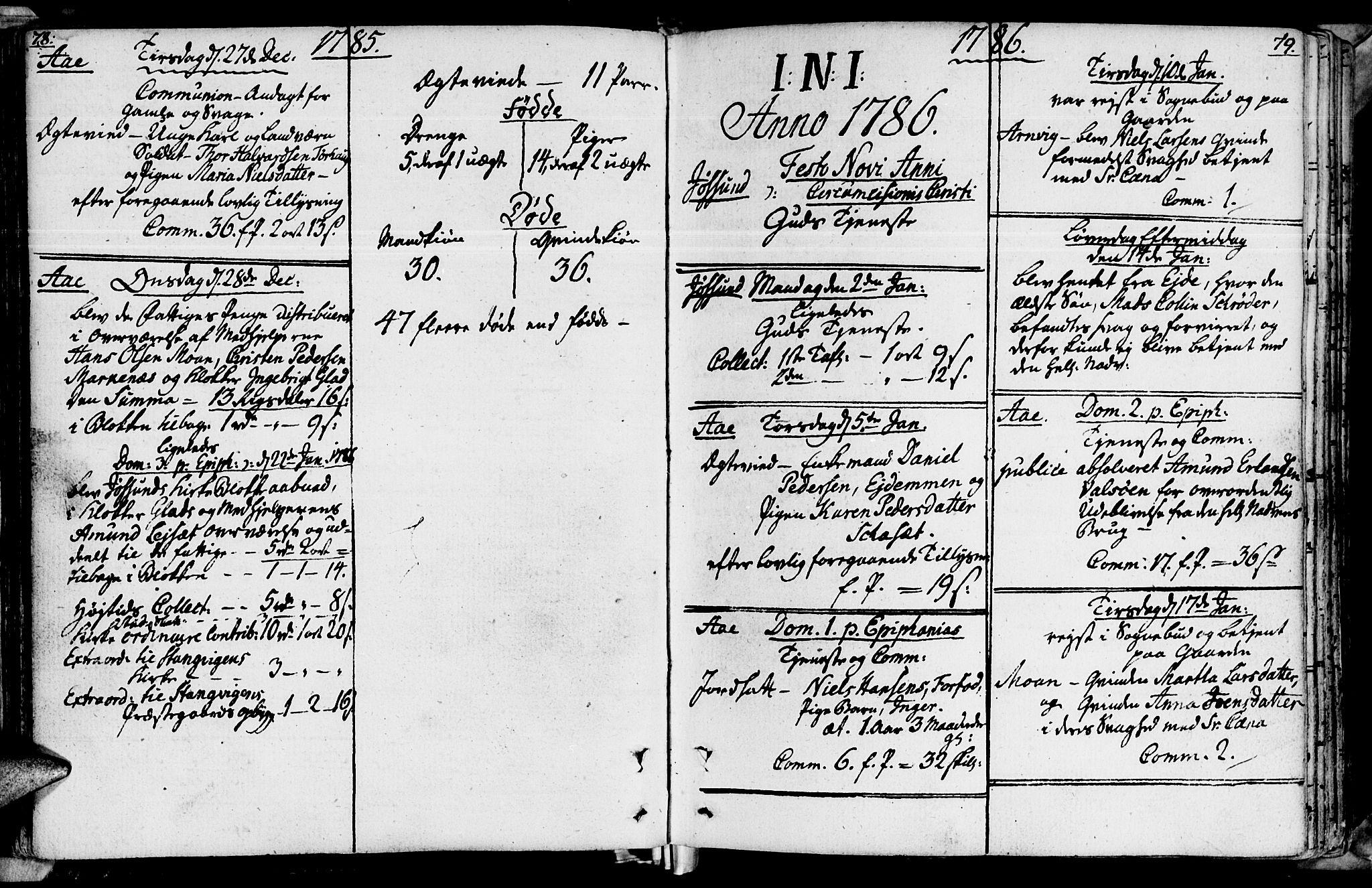 SAT, Ministerialprotokoller, klokkerbøker og fødselsregistre - Sør-Trøndelag, 655/L0673: Ministerialbok nr. 655A02, 1780-1801, s. 78-79
