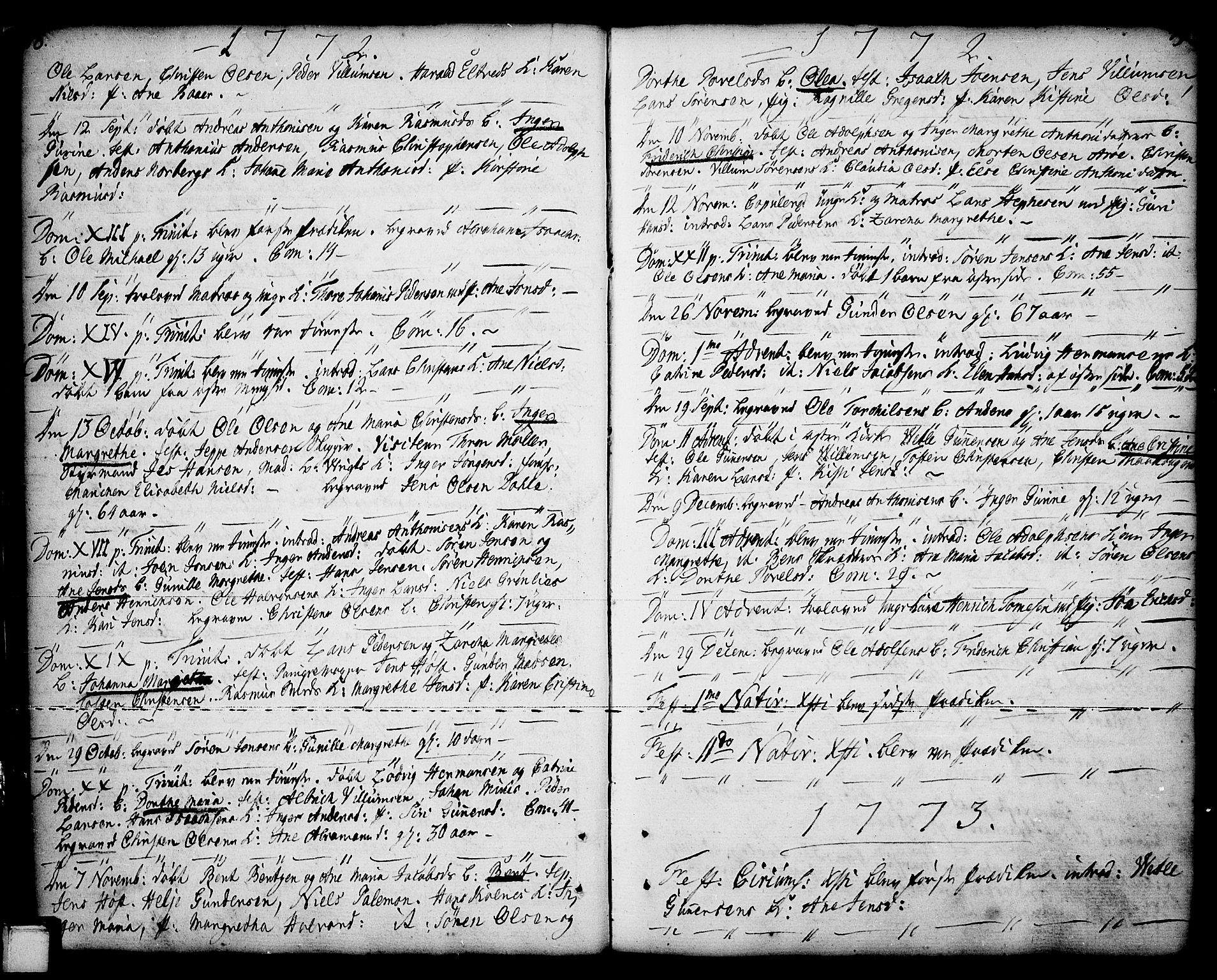 SAKO, Porsgrunn kirkebøker , F/Fa/L0001: Ministerialbok nr. 1, 1764-1814, s. 48-49