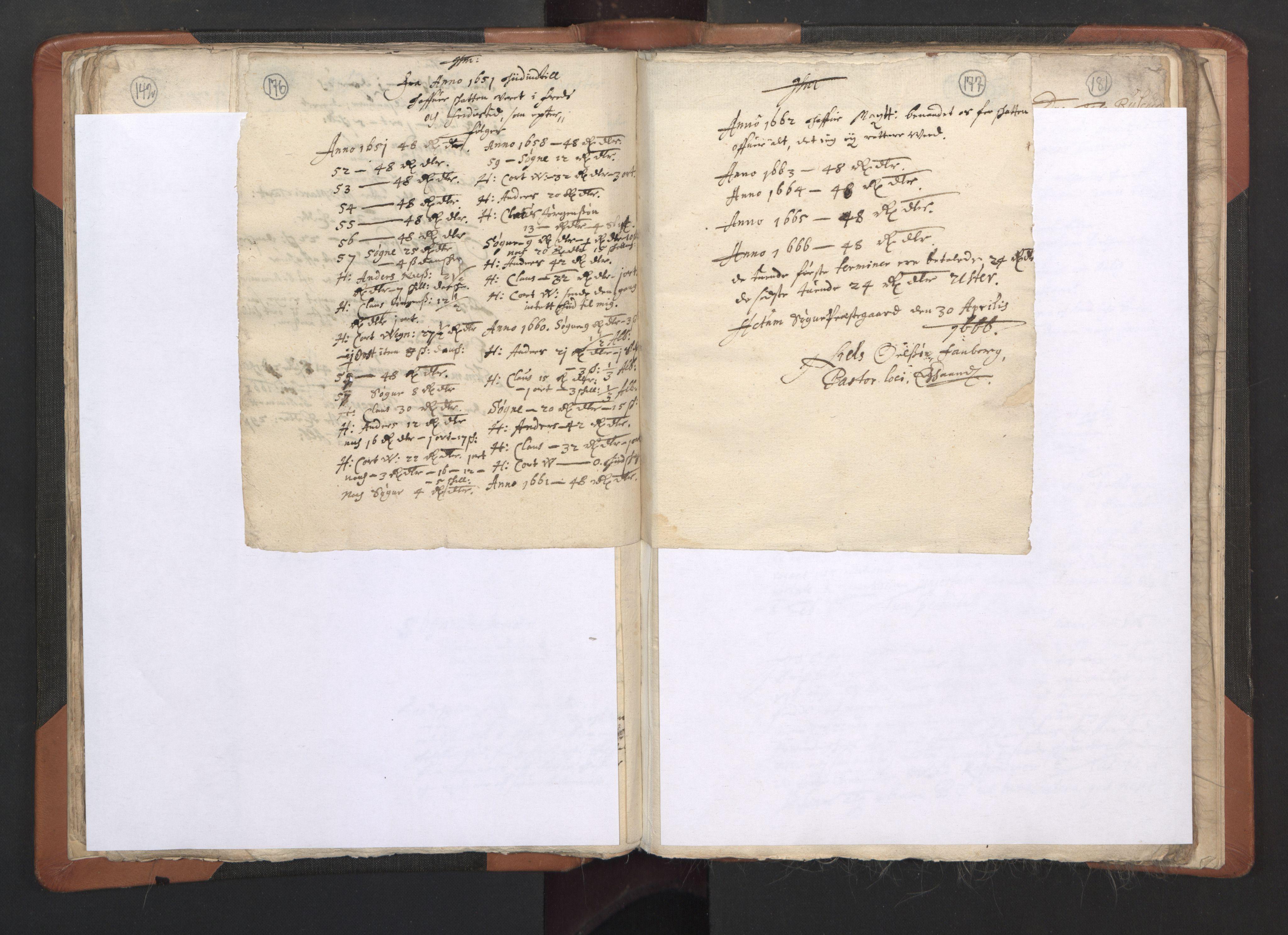 RA, Sogneprestenes manntall 1664-1666, nr. 15: Mandal prosti, 1664-1666, s. 176-177