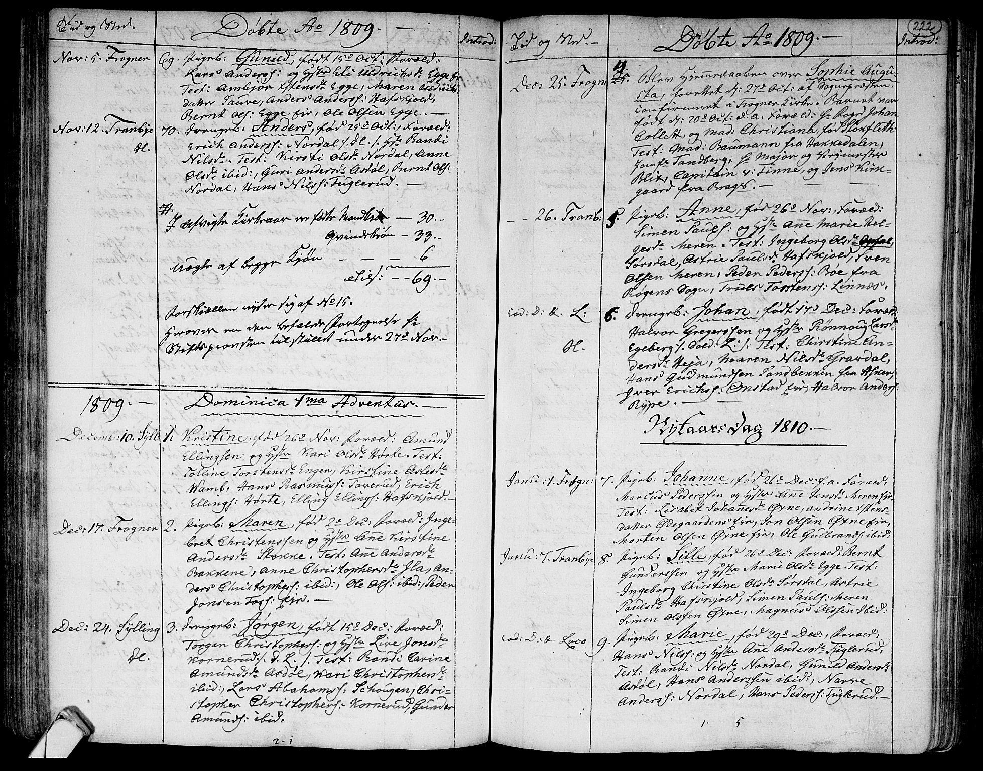 SAKO, Lier kirkebøker, F/Fa/L0007: Ministerialbok nr. I 7, 1794-1813, s. 222