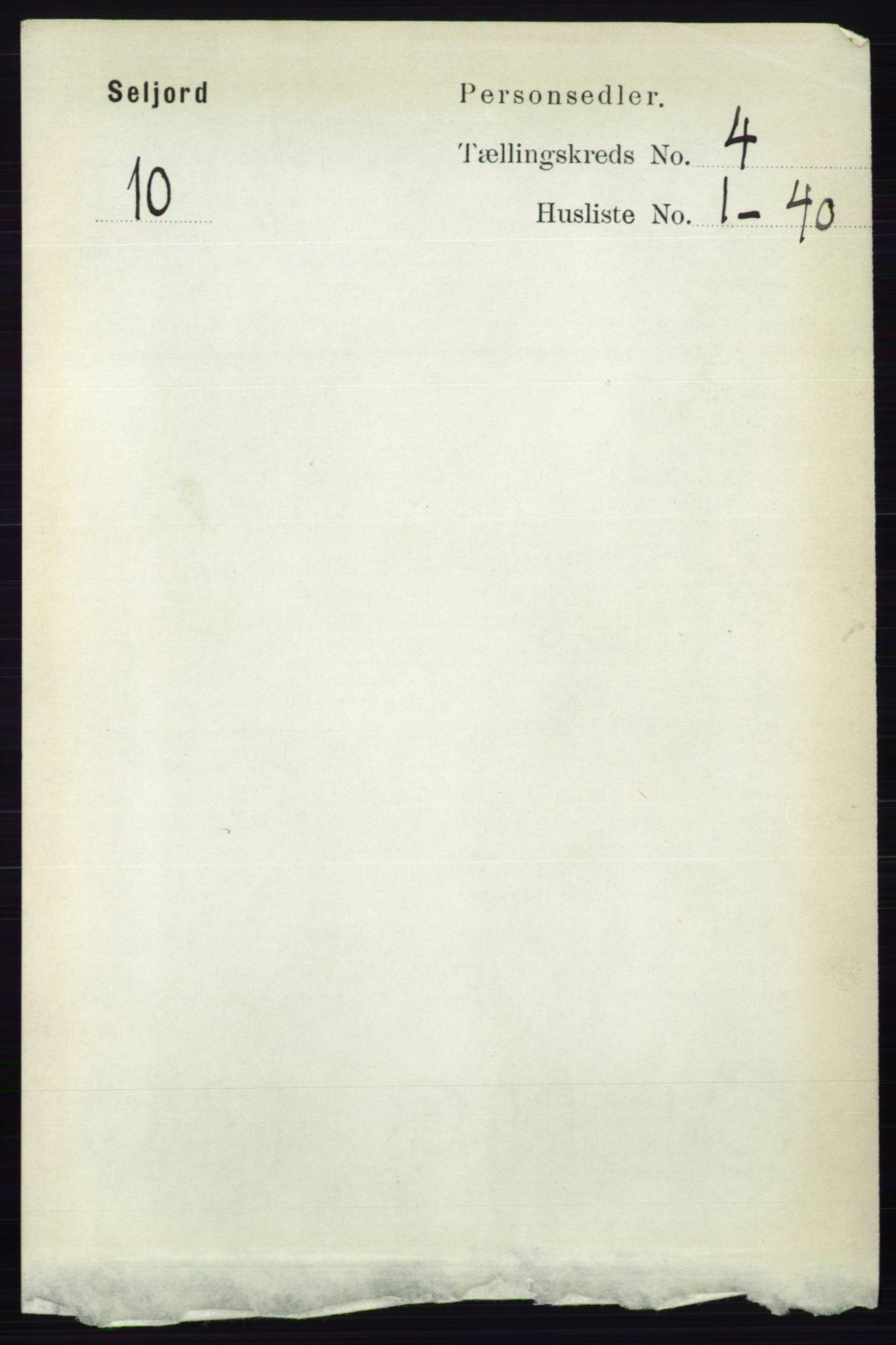 RA, Folketelling 1891 for 0828 Seljord herred, 1891, s. 1294