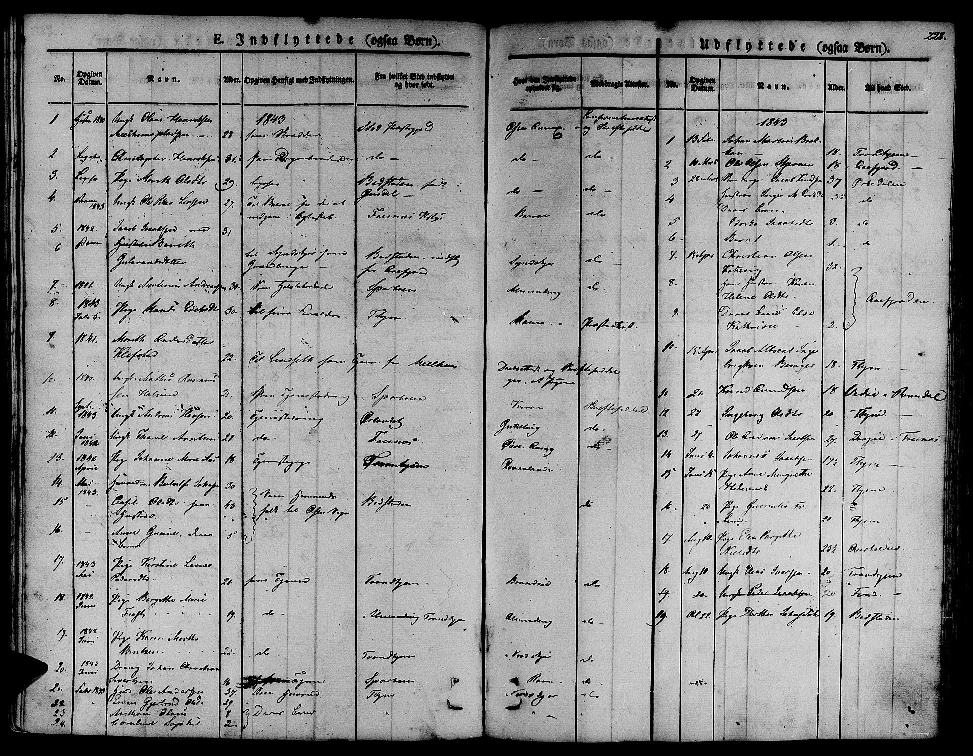 SAT, Ministerialprotokoller, klokkerbøker og fødselsregistre - Sør-Trøndelag, 657/L0703: Ministerialbok nr. 657A04, 1831-1846, s. 228