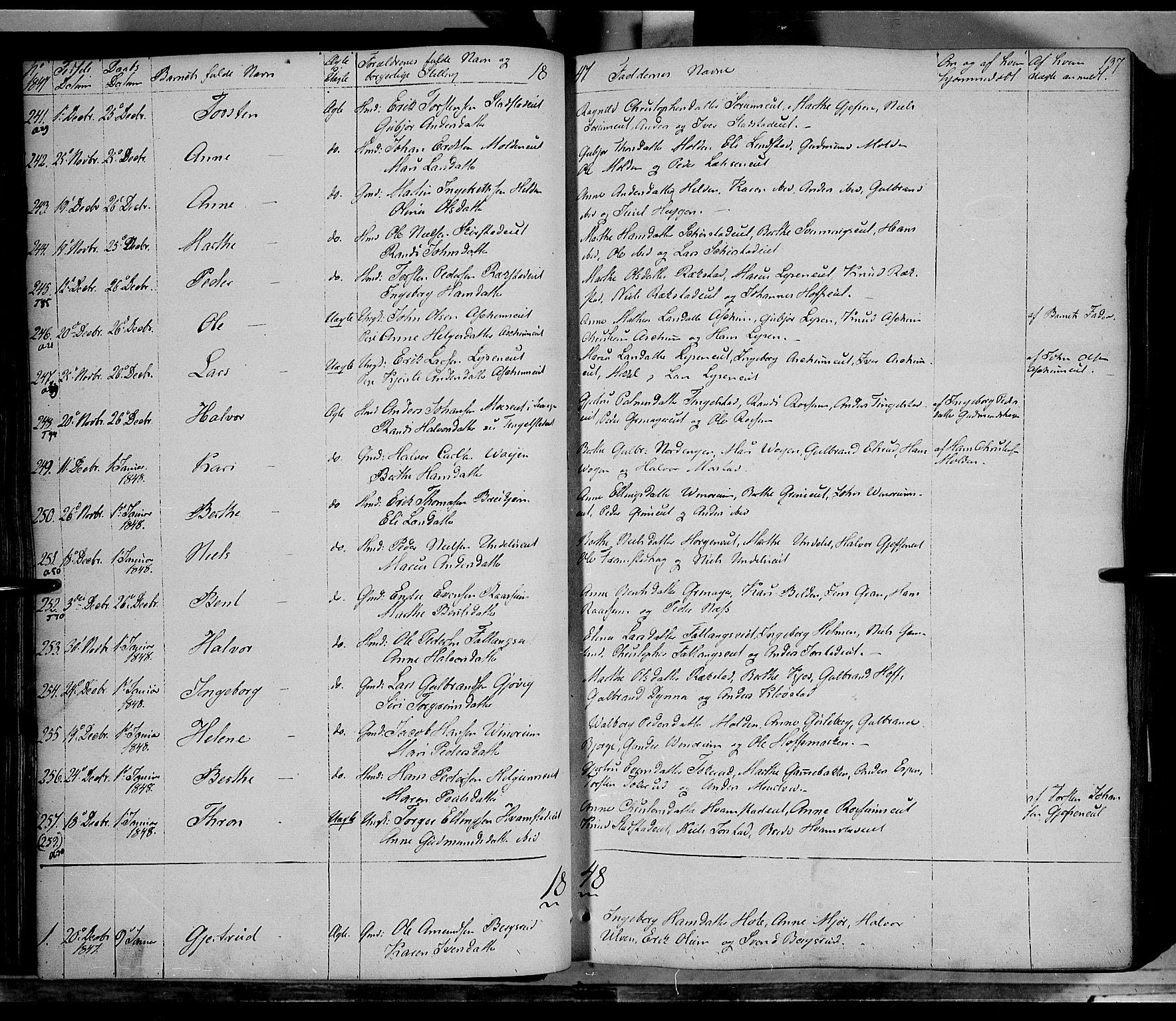 SAH, Gran prestekontor, Ministerialbok nr. 11, 1842-1856, s. 136-137