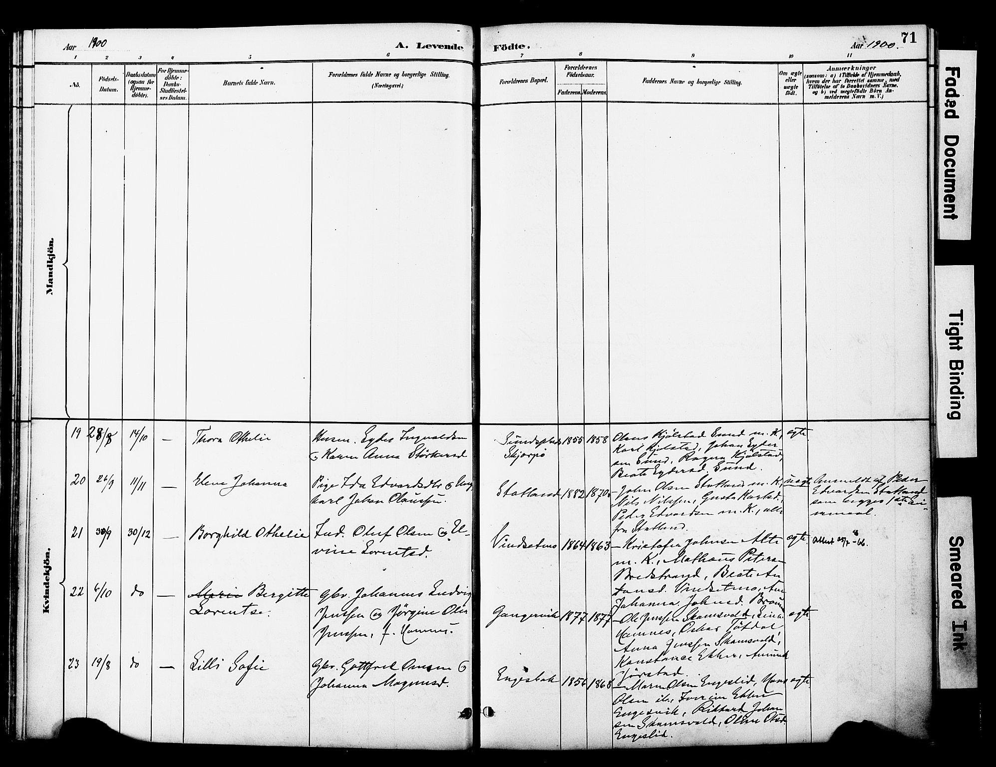 SAT, Ministerialprotokoller, klokkerbøker og fødselsregistre - Nord-Trøndelag, 774/L0628: Ministerialbok nr. 774A02, 1887-1903, s. 71
