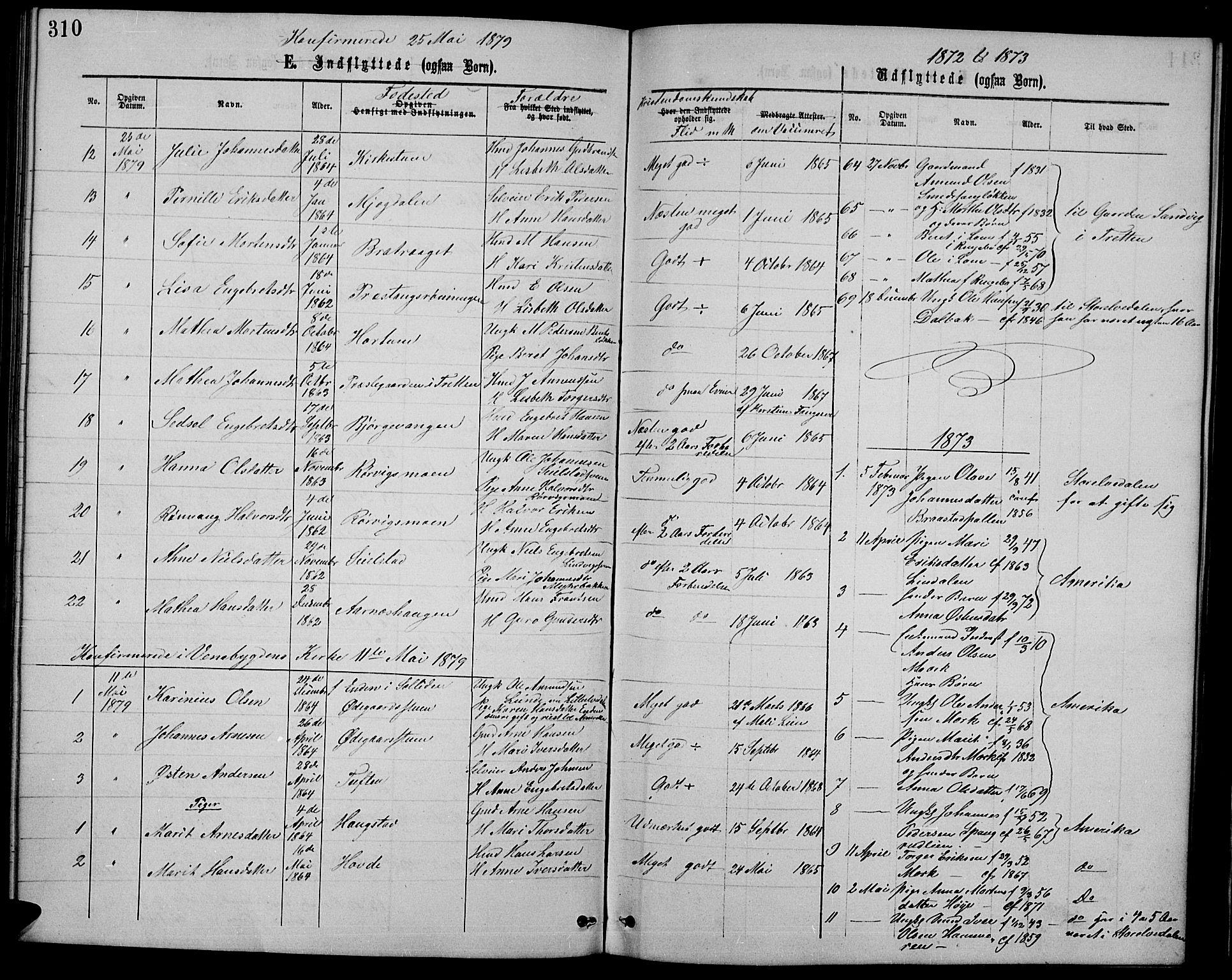 SAH, Ringebu prestekontor, Klokkerbok nr. 4, 1867-1879, s. 310