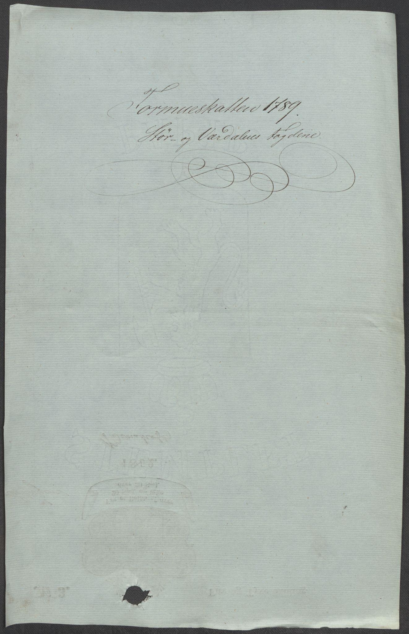 RA, Rentekammeret inntil 1814, Reviderte regnskaper, Mindre regnskaper, Rf/Rfe/L0045: Stavanger, Stjørdal og Verdal fogderi, 1789, s. 129