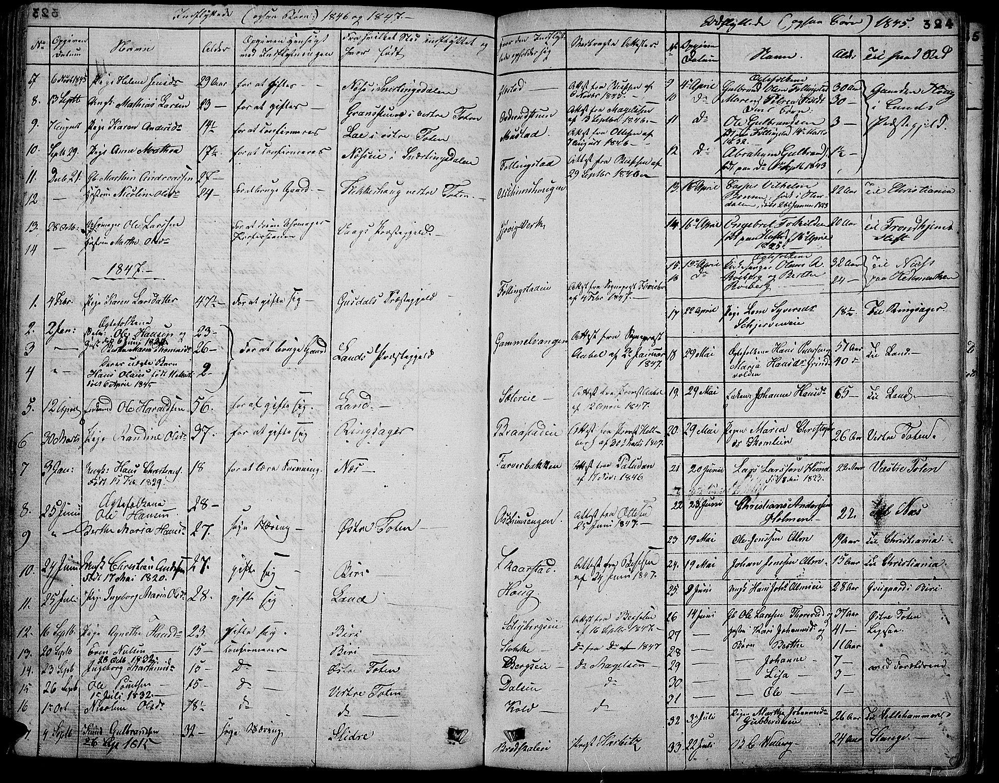 SAH, Vardal prestekontor, H/Ha/Hab/L0004: Klokkerbok nr. 4, 1831-1853, s. 324