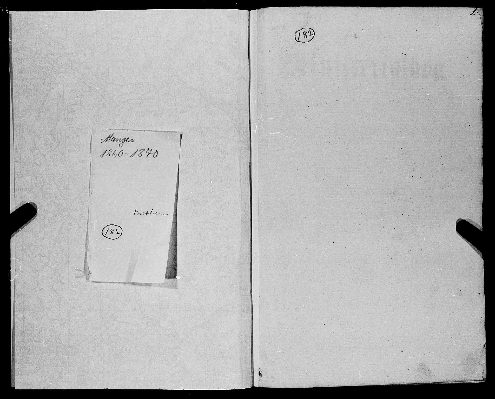 SAB, Manger sokneprestembete, H/Haa: Ministerialbok nr. A 7, 1860-1870