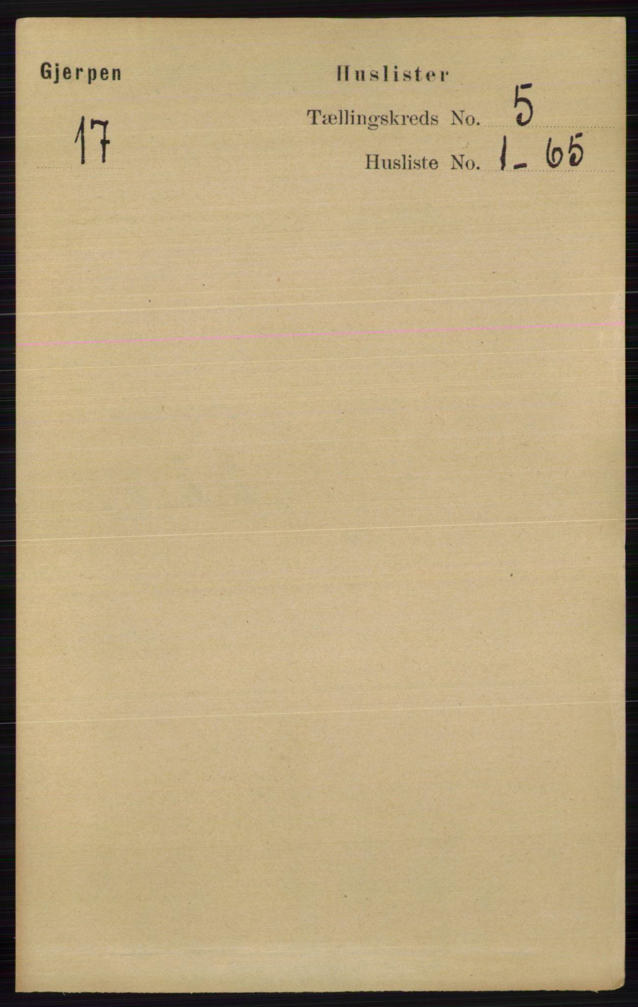 RA, Folketelling 1891 for 0812 Gjerpen herred, 1891, s. 2425