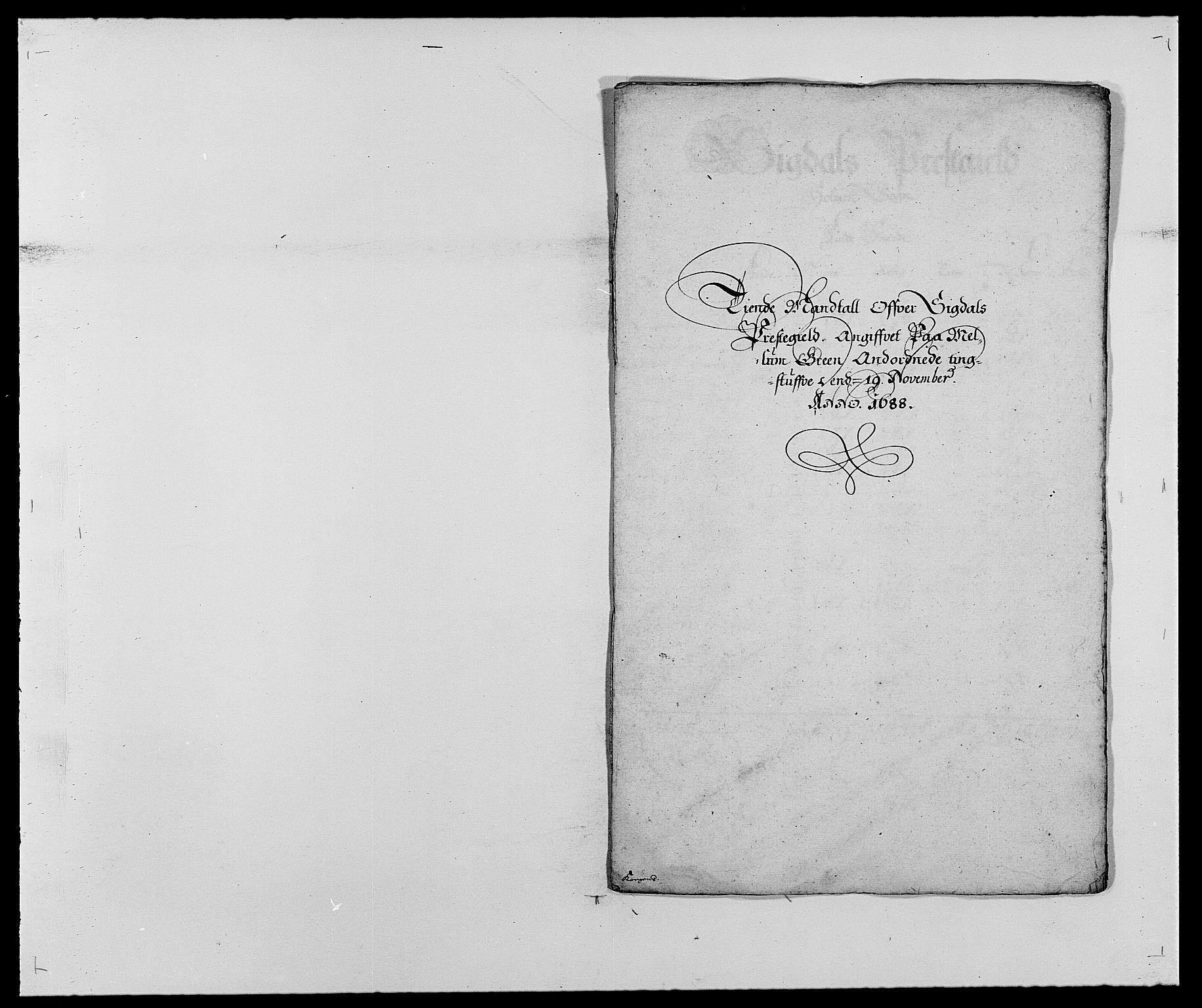 RA, Rentekammeret inntil 1814, Reviderte regnskaper, Fogderegnskap, R25/L1679: Fogderegnskap Buskerud, 1687-1688, s. 275