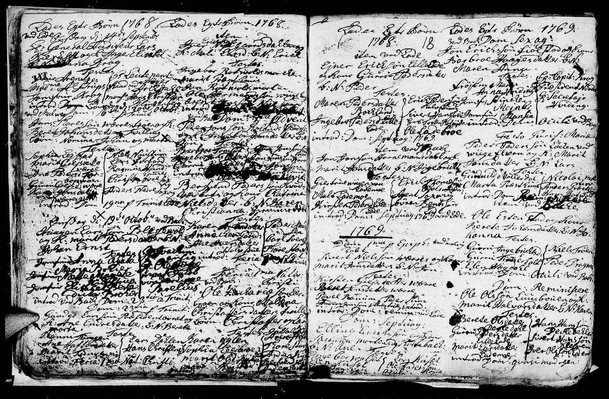 SAT, Ministerialprotokoller, klokkerbøker og fødselsregistre - Sør-Trøndelag, 606/L0305: Klokkerbok nr. 606C01, 1757-1819, s. 18