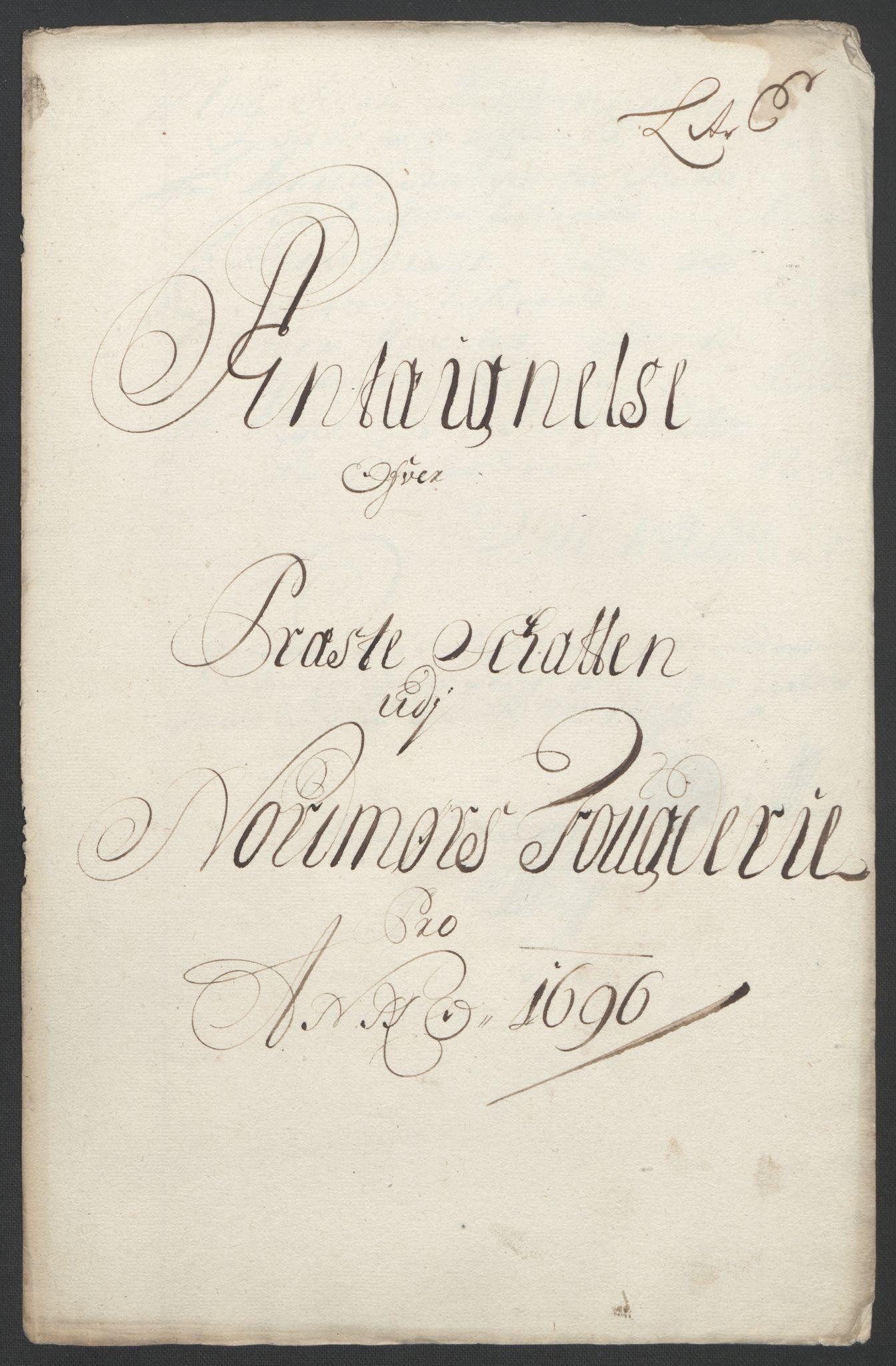 RA, Rentekammeret inntil 1814, Reviderte regnskaper, Fogderegnskap, R56/L3736: Fogderegnskap Nordmøre, 1694-1696, s. 420