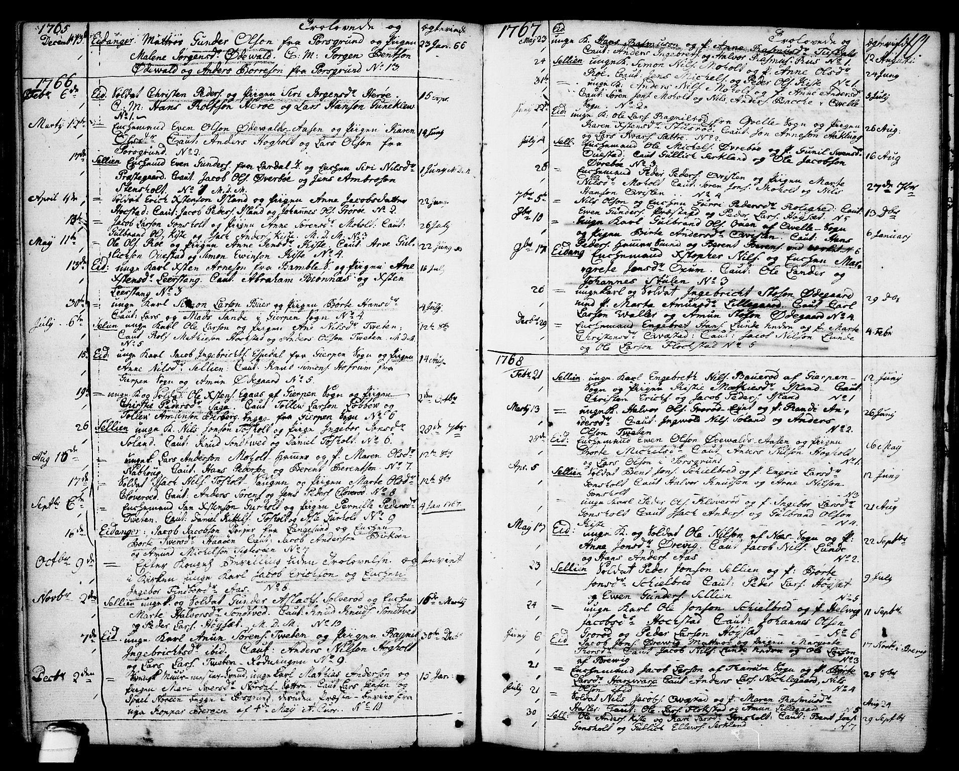 SAKO, Eidanger kirkebøker, F/Fa/L0006: Ministerialbok nr. 6, 1764-1814, s. 110
