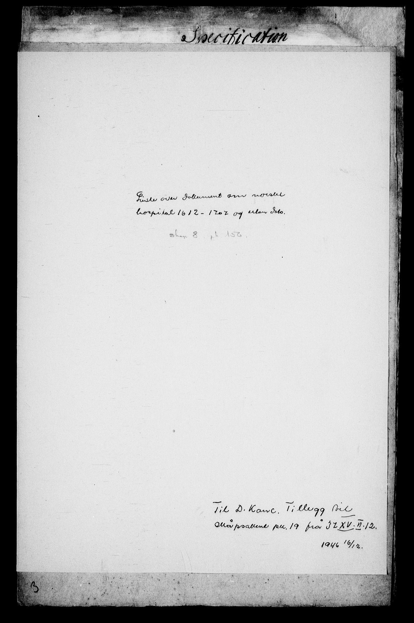 RA, Danske Kanselli, Skapsaker, G/L0019: Tillegg til skapsakene, 1616-1753, s. 376
