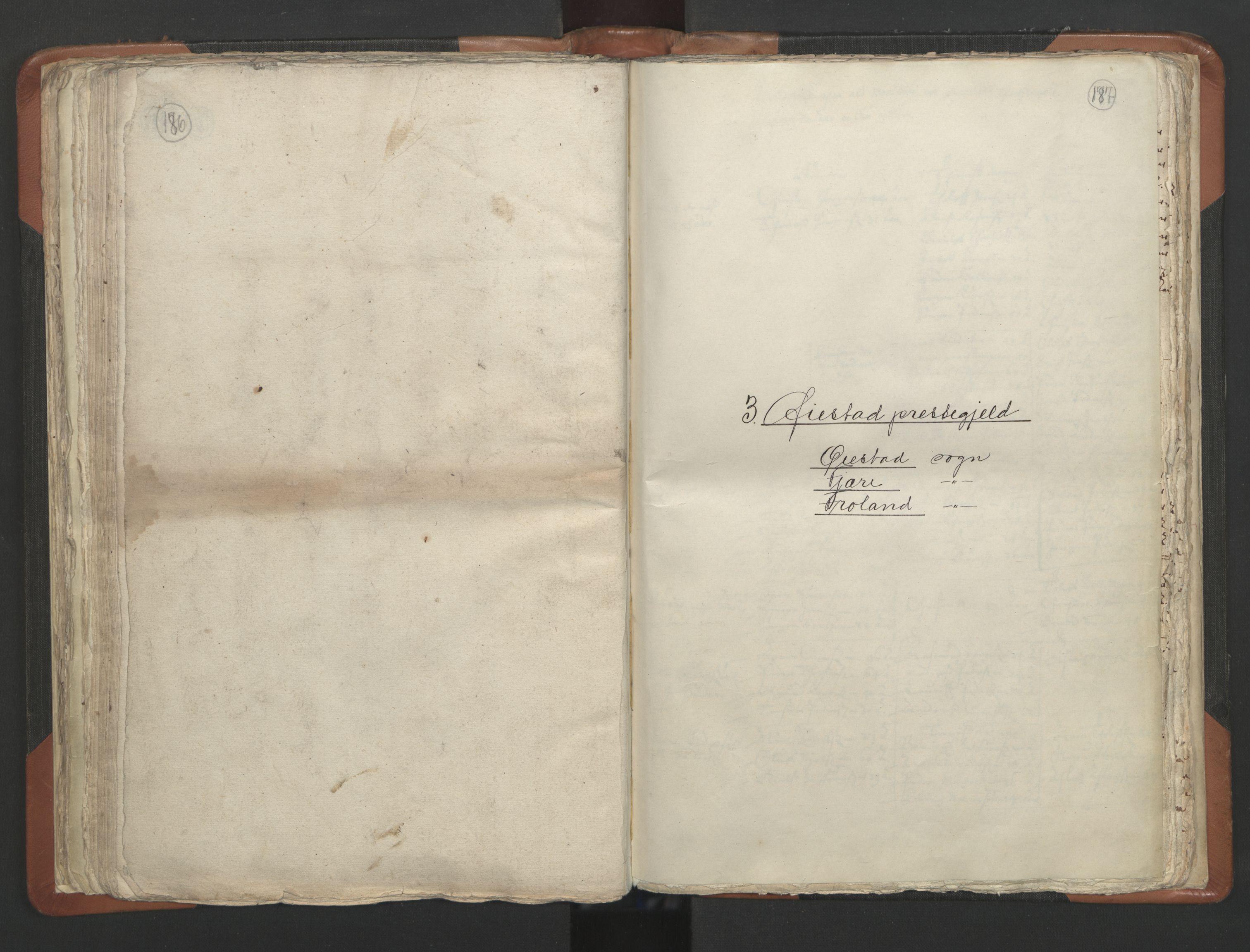 RA, Sogneprestenes manntall 1664-1666, nr. 13: Nedenes prosti, 1664-1666, s. 186-187