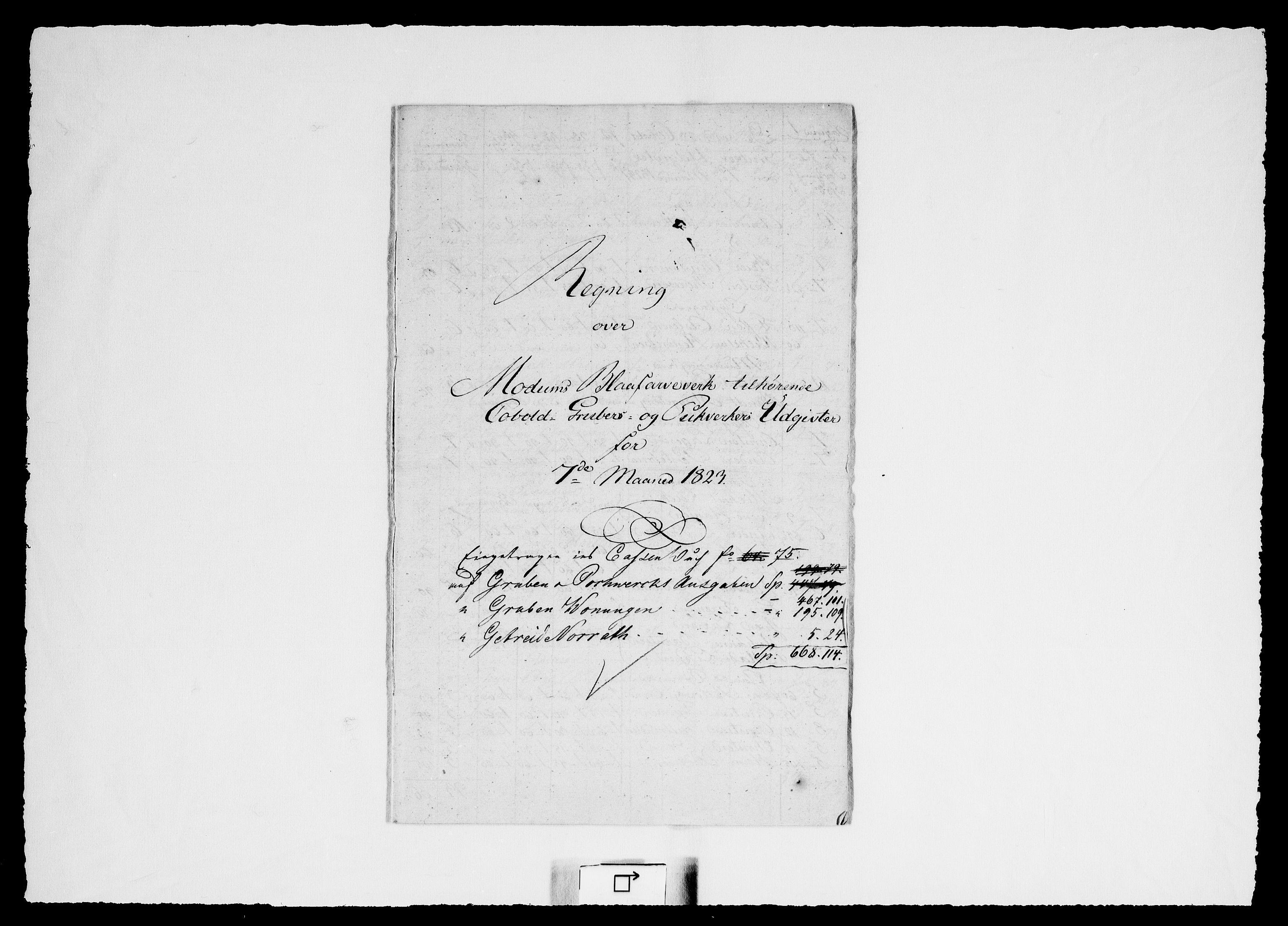 RA, Modums Blaafarveværk, G/Gd/Gdd/L0255, 1823-1826, s. 2