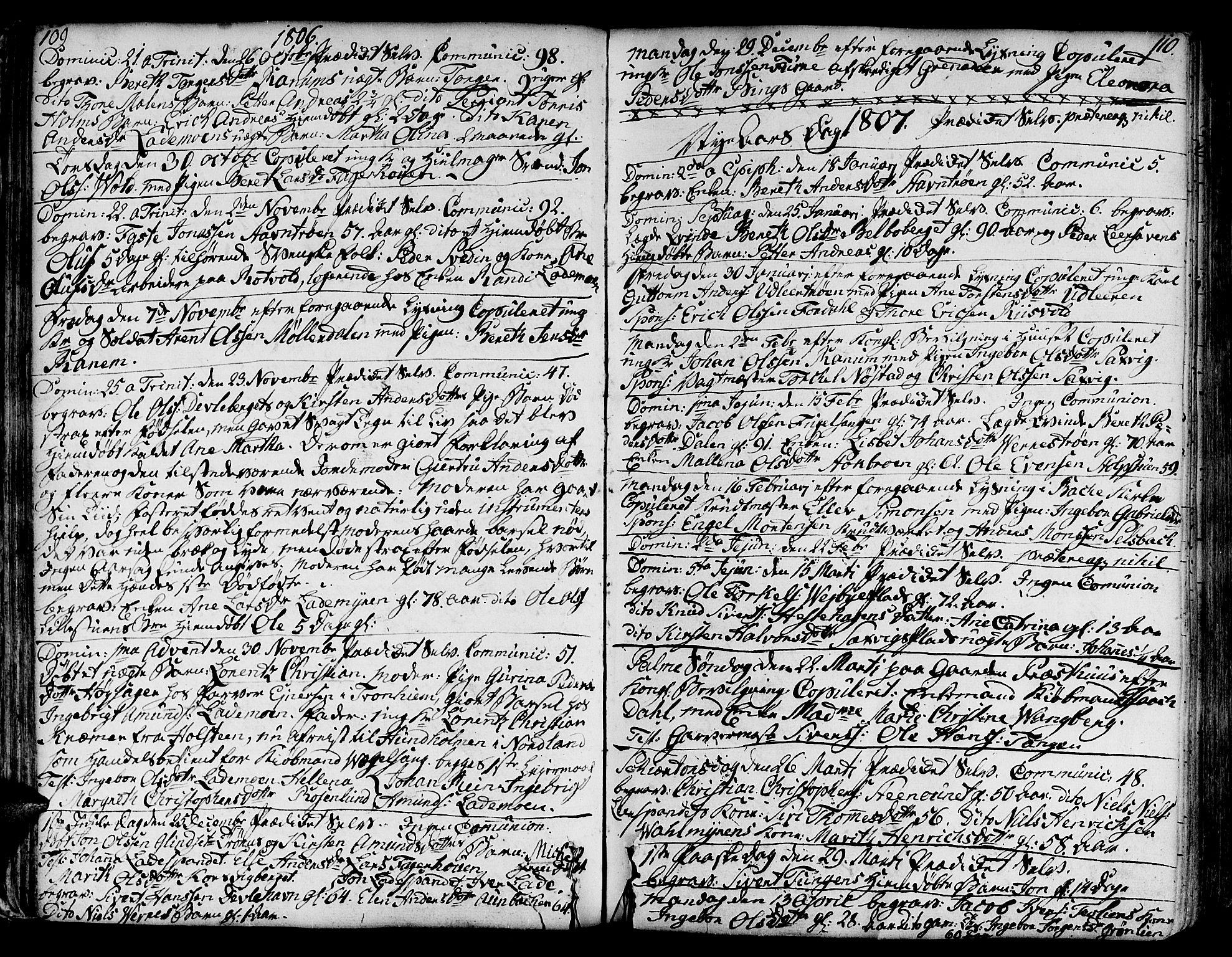 SAT, Ministerialprotokoller, klokkerbøker og fødselsregistre - Sør-Trøndelag, 606/L0280: Ministerialbok nr. 606A02 /1, 1781-1817, s. 109-110