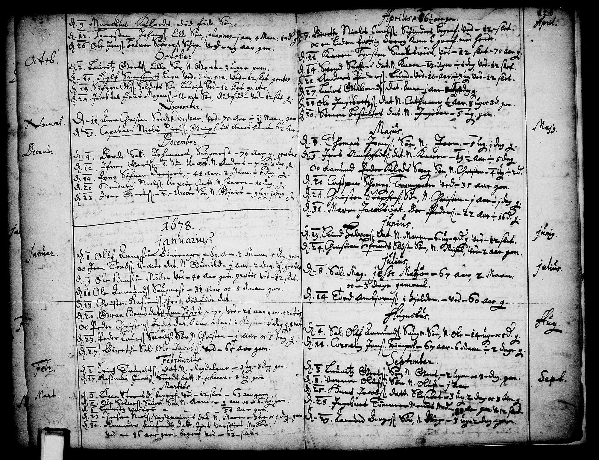 SAKO, Skien kirkebøker, F/Fa/L0001: Ministerialbok nr. 1, 1659-1679, s. 126