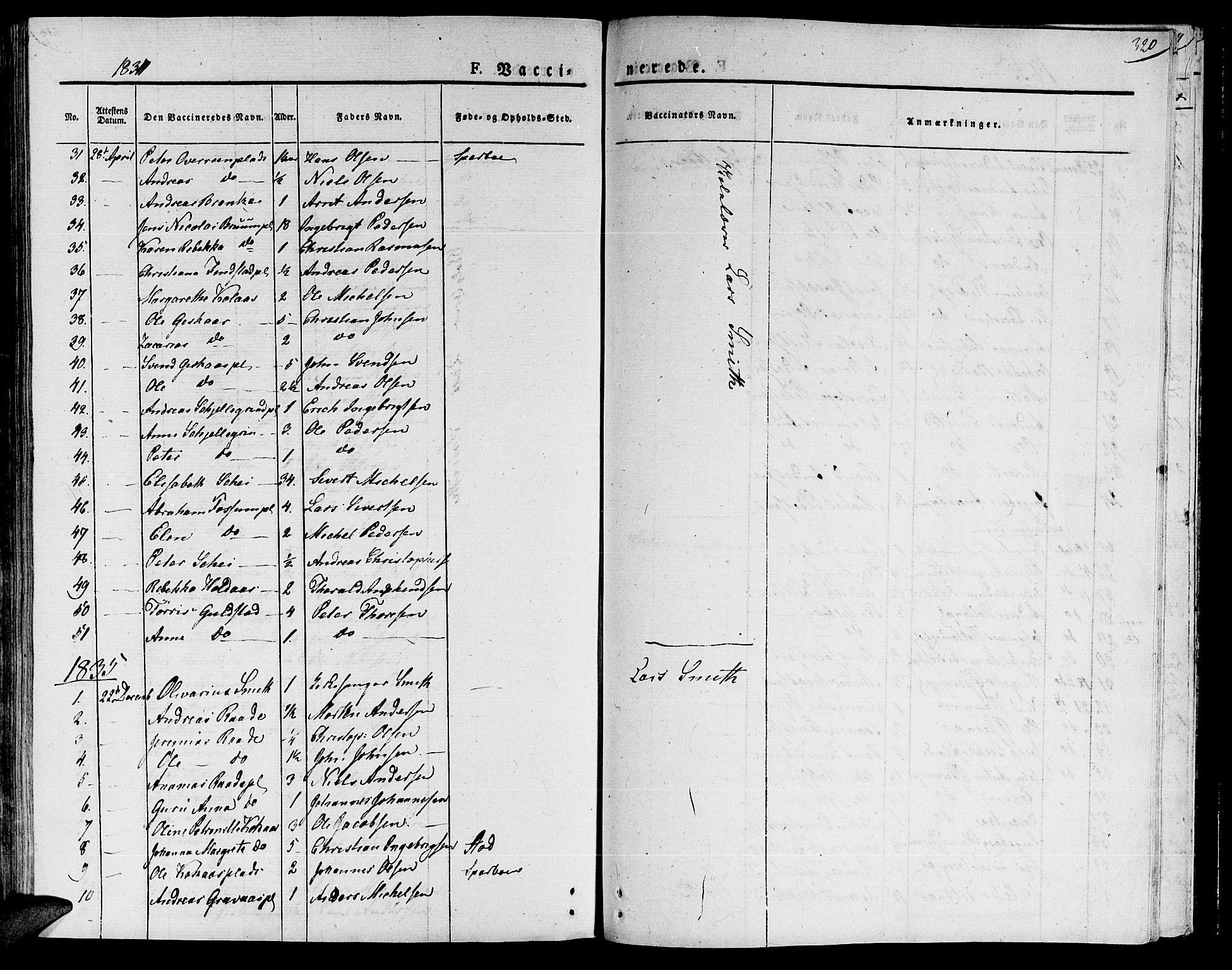 SAT, Ministerialprotokoller, klokkerbøker og fødselsregistre - Nord-Trøndelag, 735/L0336: Ministerialbok nr. 735A05 /1, 1825-1835, s. 320