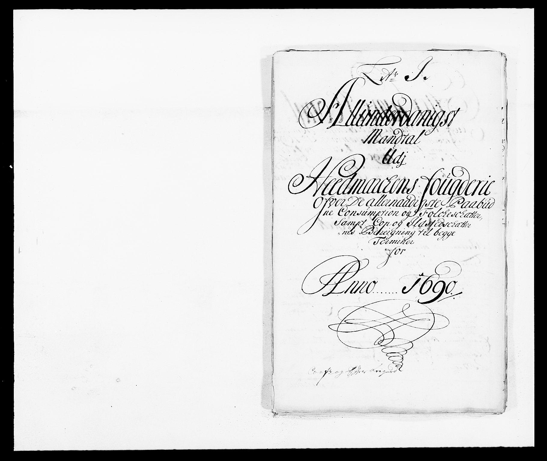 RA, Rentekammeret inntil 1814, Reviderte regnskaper, Fogderegnskap, R16/L1030: Fogderegnskap Hedmark, 1689-1691, s. 250