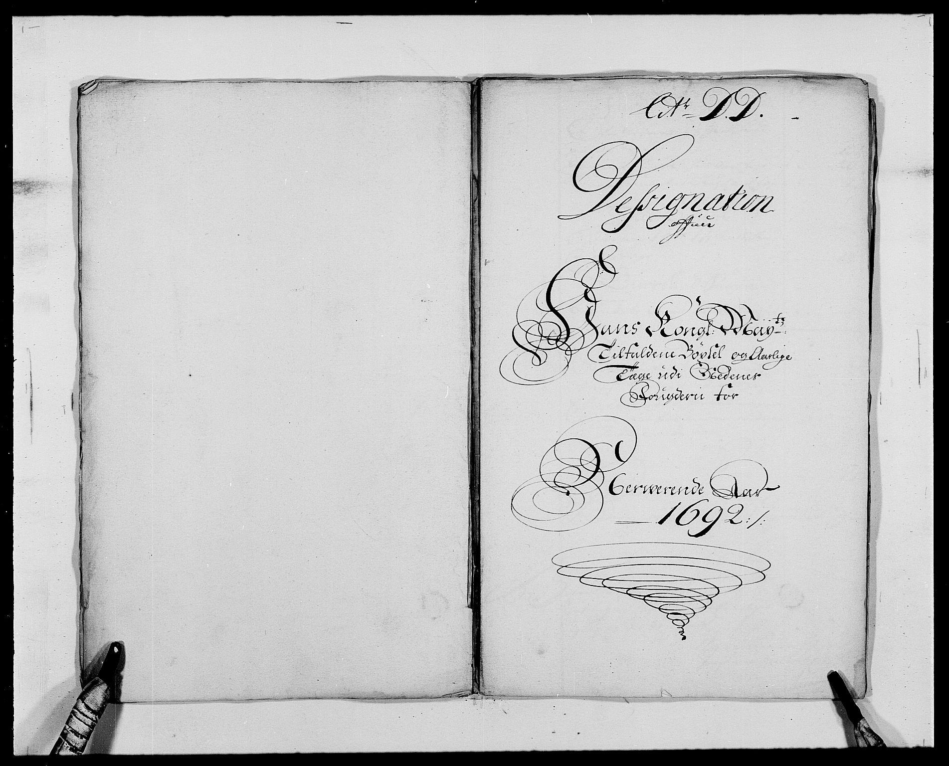 RA, Rentekammeret inntil 1814, Reviderte regnskaper, Fogderegnskap, R39/L2311: Fogderegnskap Nedenes, 1690-1692, s. 154