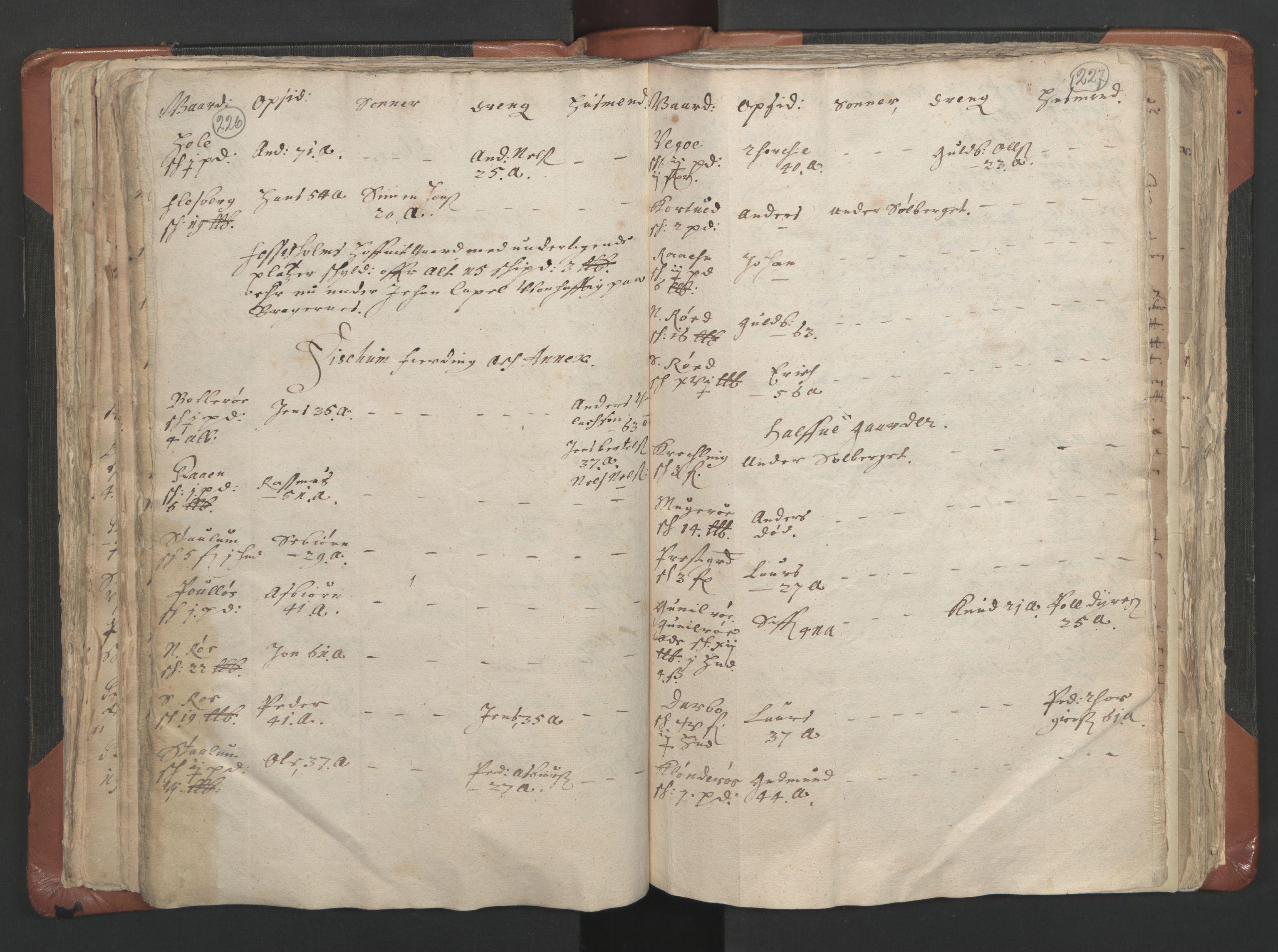 RA, Sogneprestenes manntall 1664-1666, nr. 9: Bragernes prosti, 1664-1666, s. 226-227