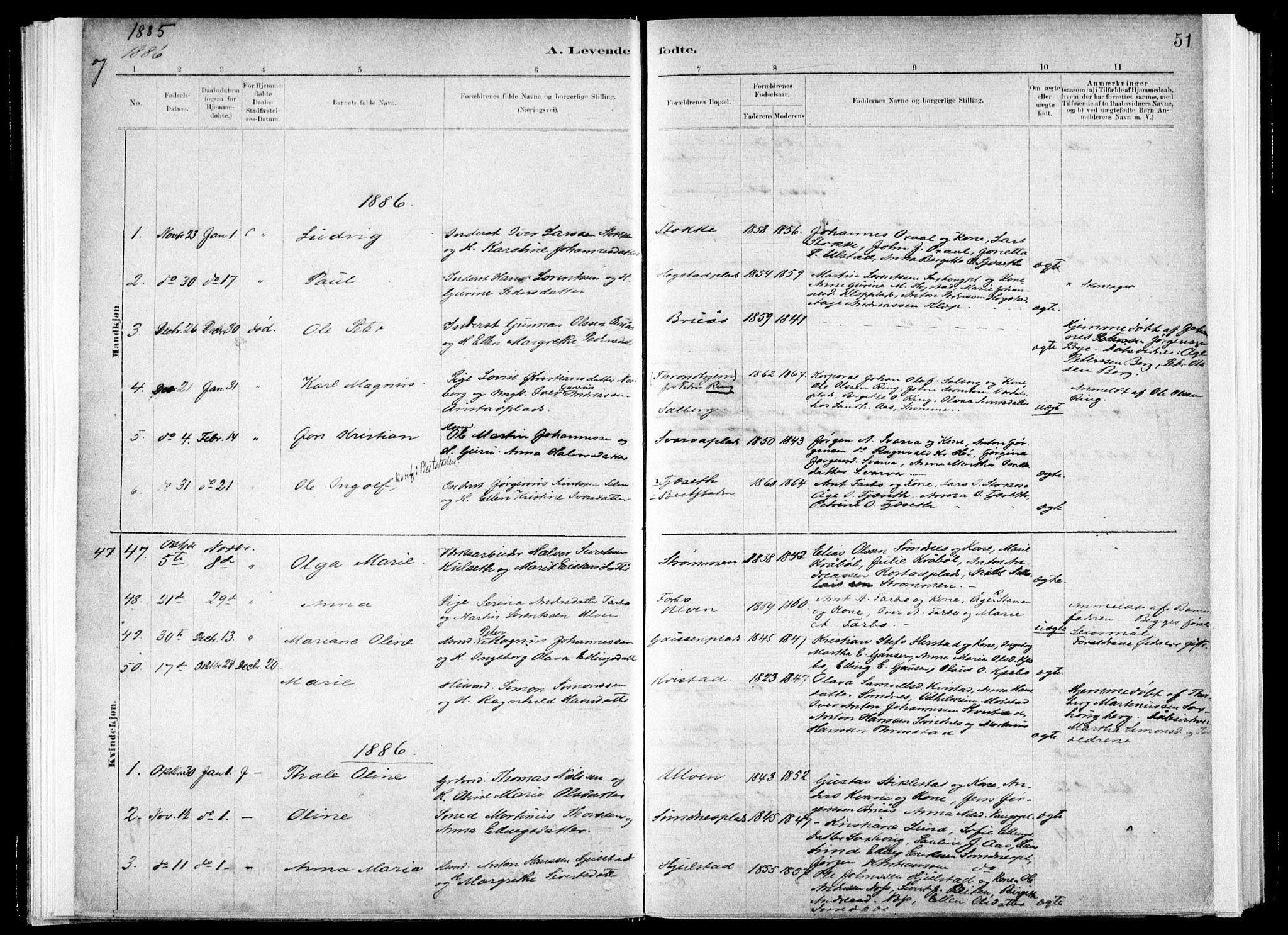 SAT, Ministerialprotokoller, klokkerbøker og fødselsregistre - Nord-Trøndelag, 730/L0285: Ministerialbok nr. 730A10, 1879-1914, s. 51
