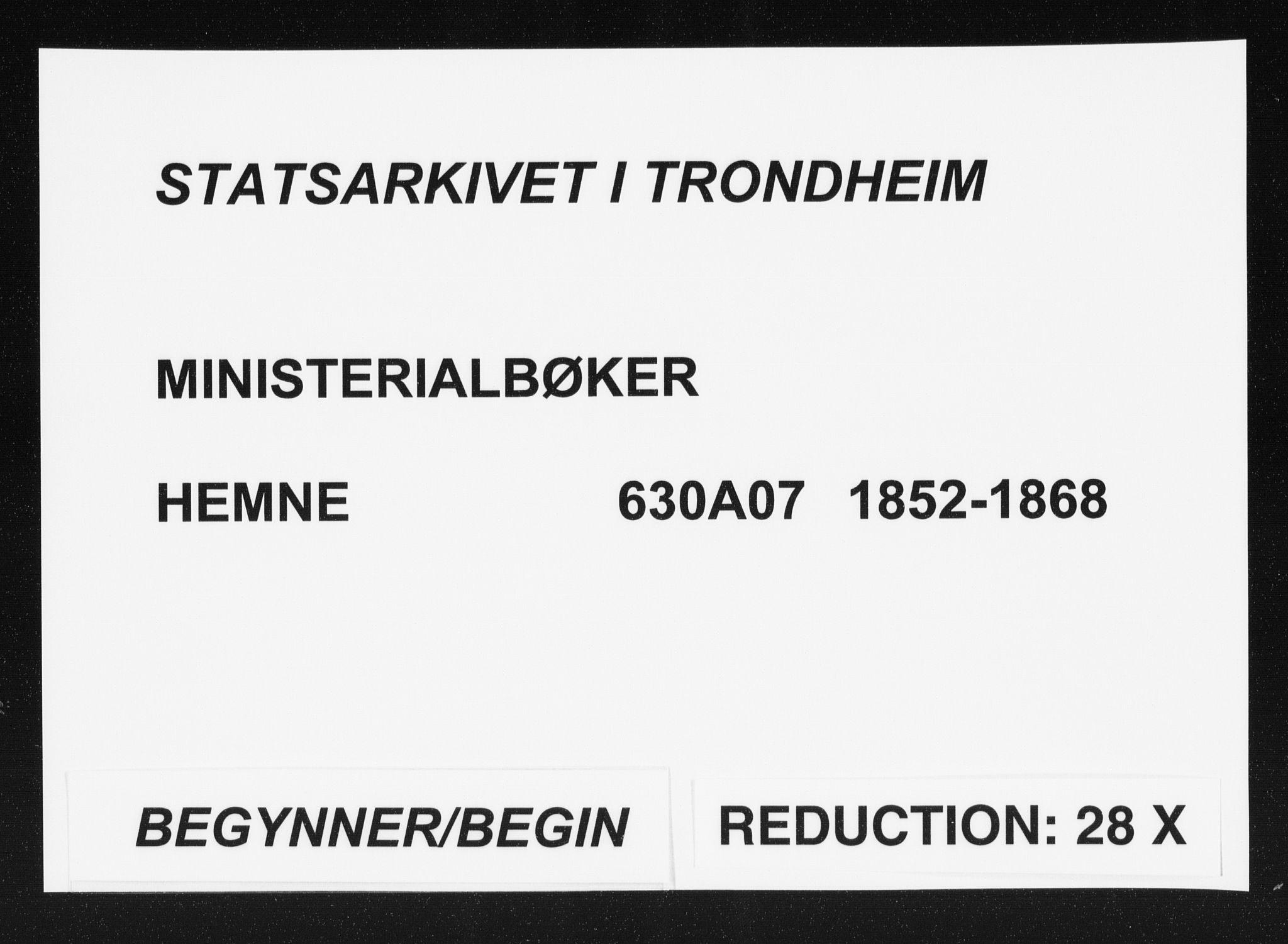 SAT, Ministerialprotokoller, klokkerbøker og fødselsregistre - Sør-Trøndelag, 630/L0494: Ministerialbok nr. 630A07, 1852-1868