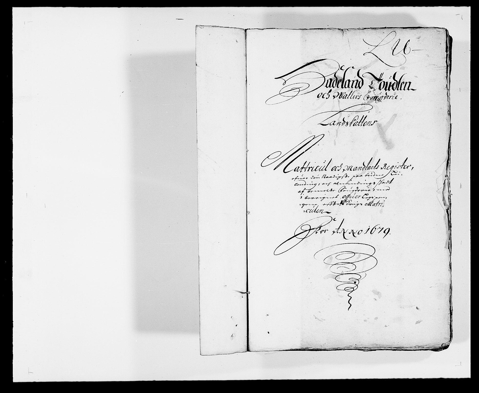 RA, Rentekammeret inntil 1814, Reviderte regnskaper, Fogderegnskap, R18/L1273: Fogderegnskap Hadeland, Toten og Valdres, 1679, s. 1