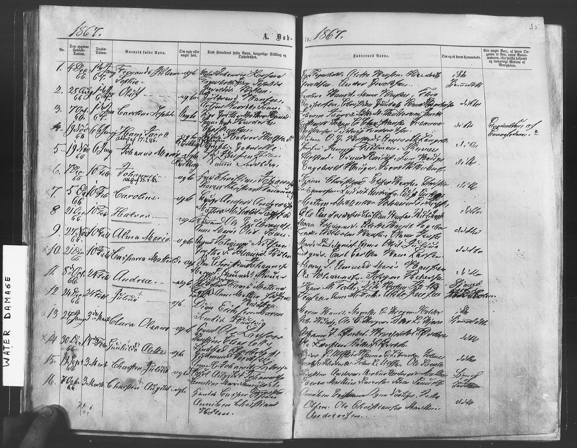 SAO, Vestby prestekontor Kirkebøker, F/Fa/L0008: Ministerialbok nr. I 8, 1863-1877, s. 35