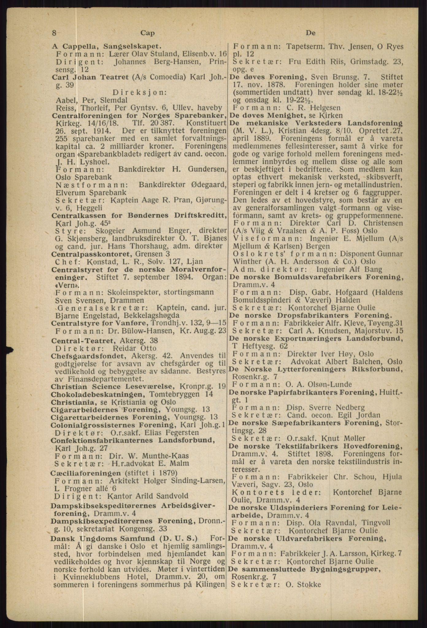 RA, Oslo adressebok (publikasjon)*, 1936, s. 8