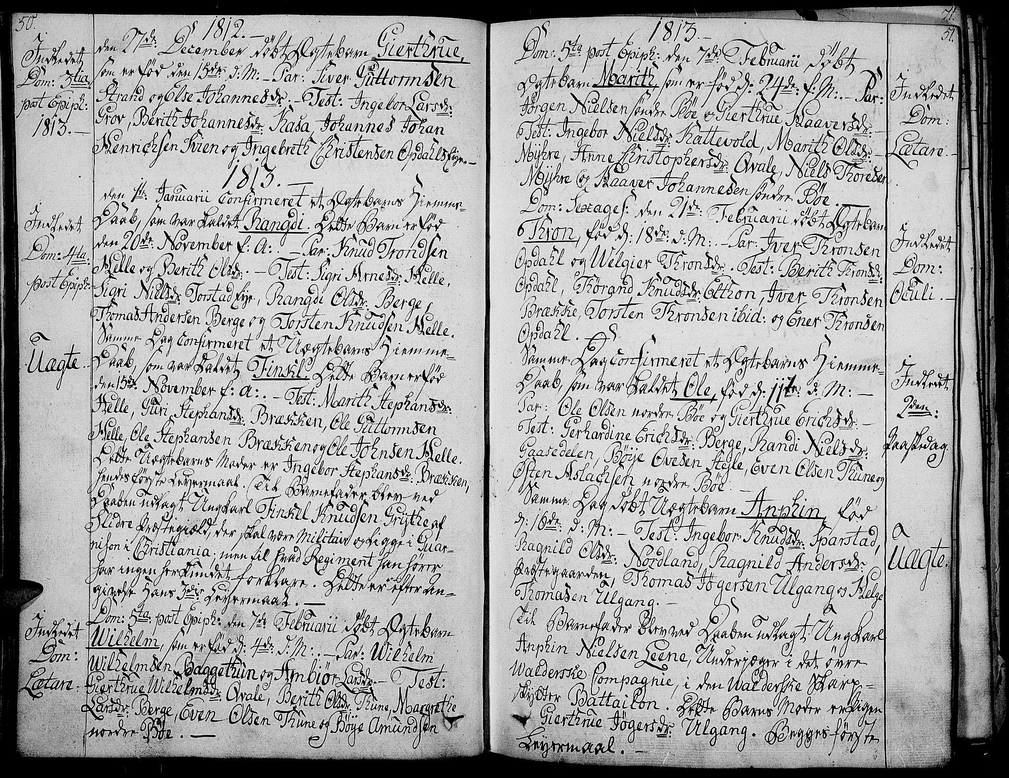 SAH, Vang prestekontor, Valdres, Ministerialbok nr. 3, 1809-1831, s. 50-51
