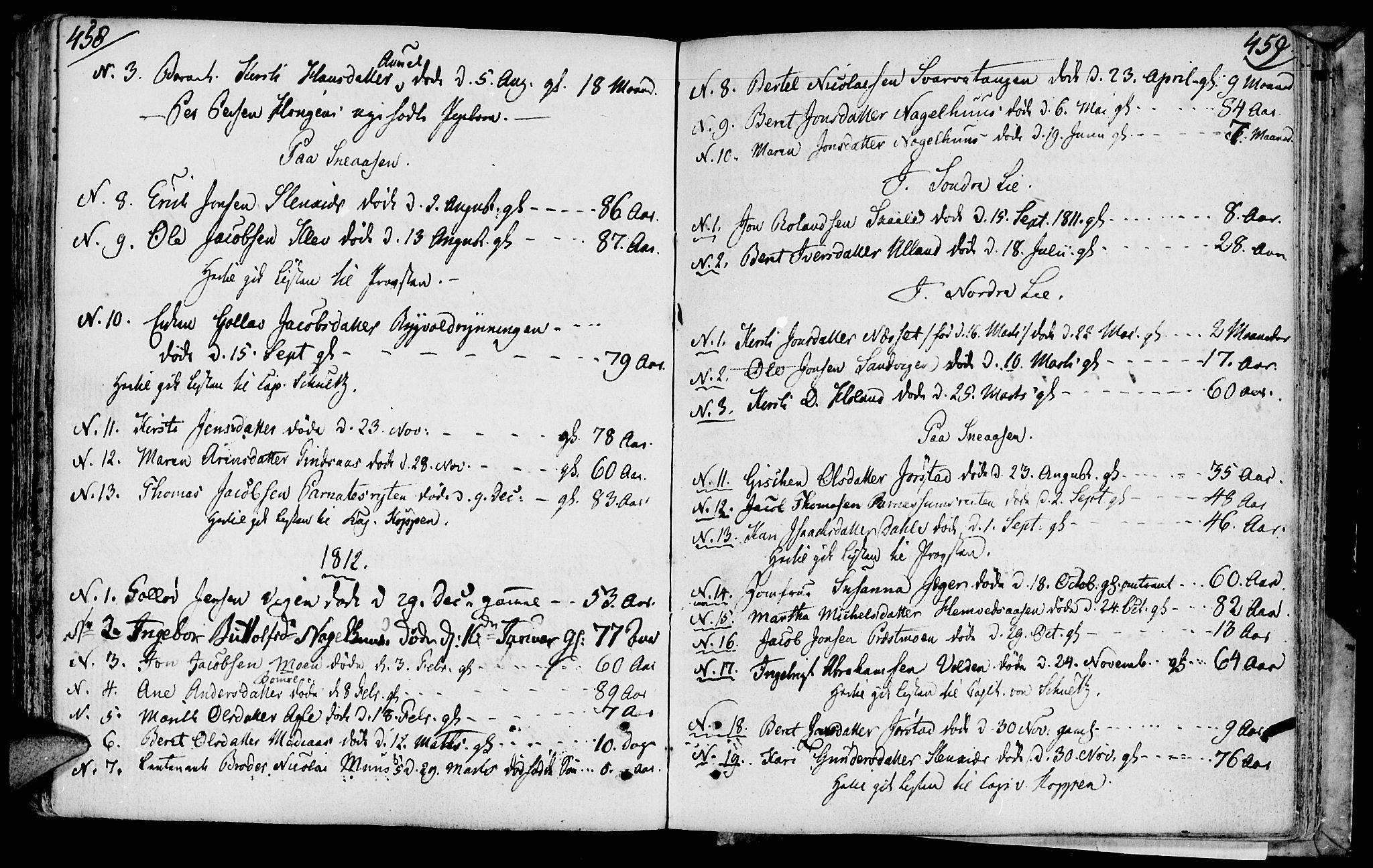 SAT, Ministerialprotokoller, klokkerbøker og fødselsregistre - Nord-Trøndelag, 749/L0468: Ministerialbok nr. 749A02, 1787-1817, s. 458-459