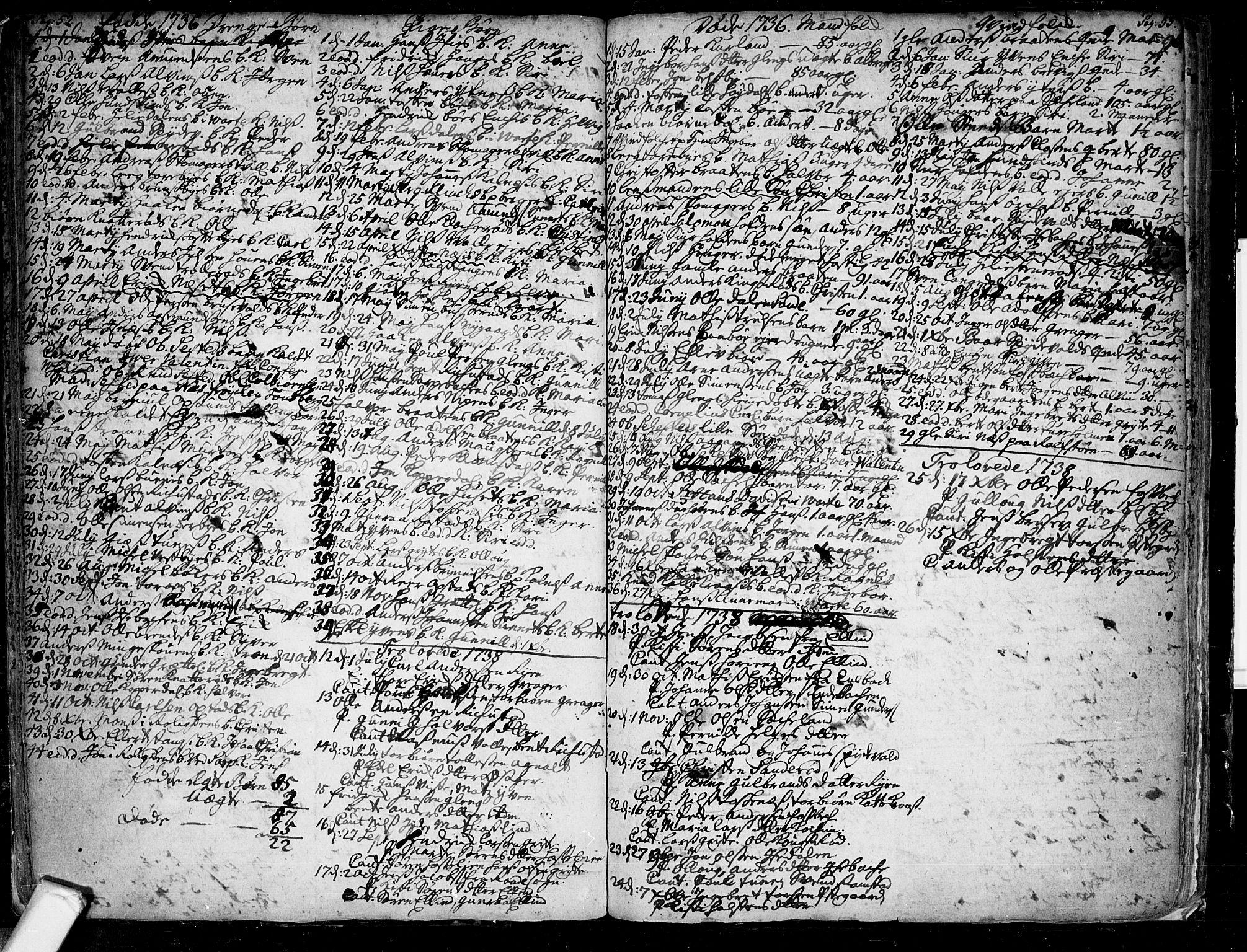SAO, Tune prestekontor Kirkebøker, F/Fa/L0001: Ministerialbok nr. 1, 1720-1758, s. 52-53