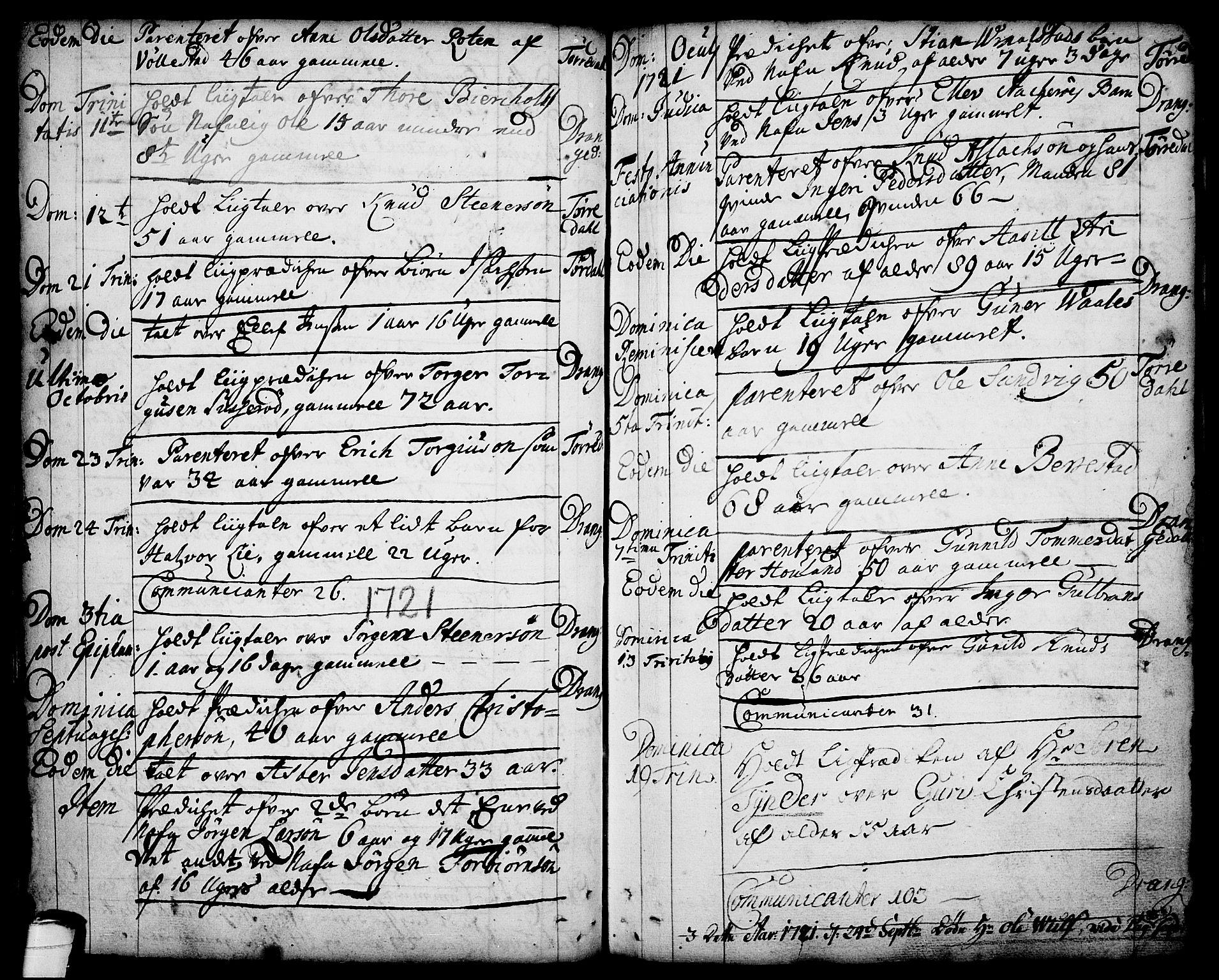 SAKO, Drangedal kirkebøker, F/Fa/L0001: Ministerialbok nr. 1, 1697-1767, s. 76