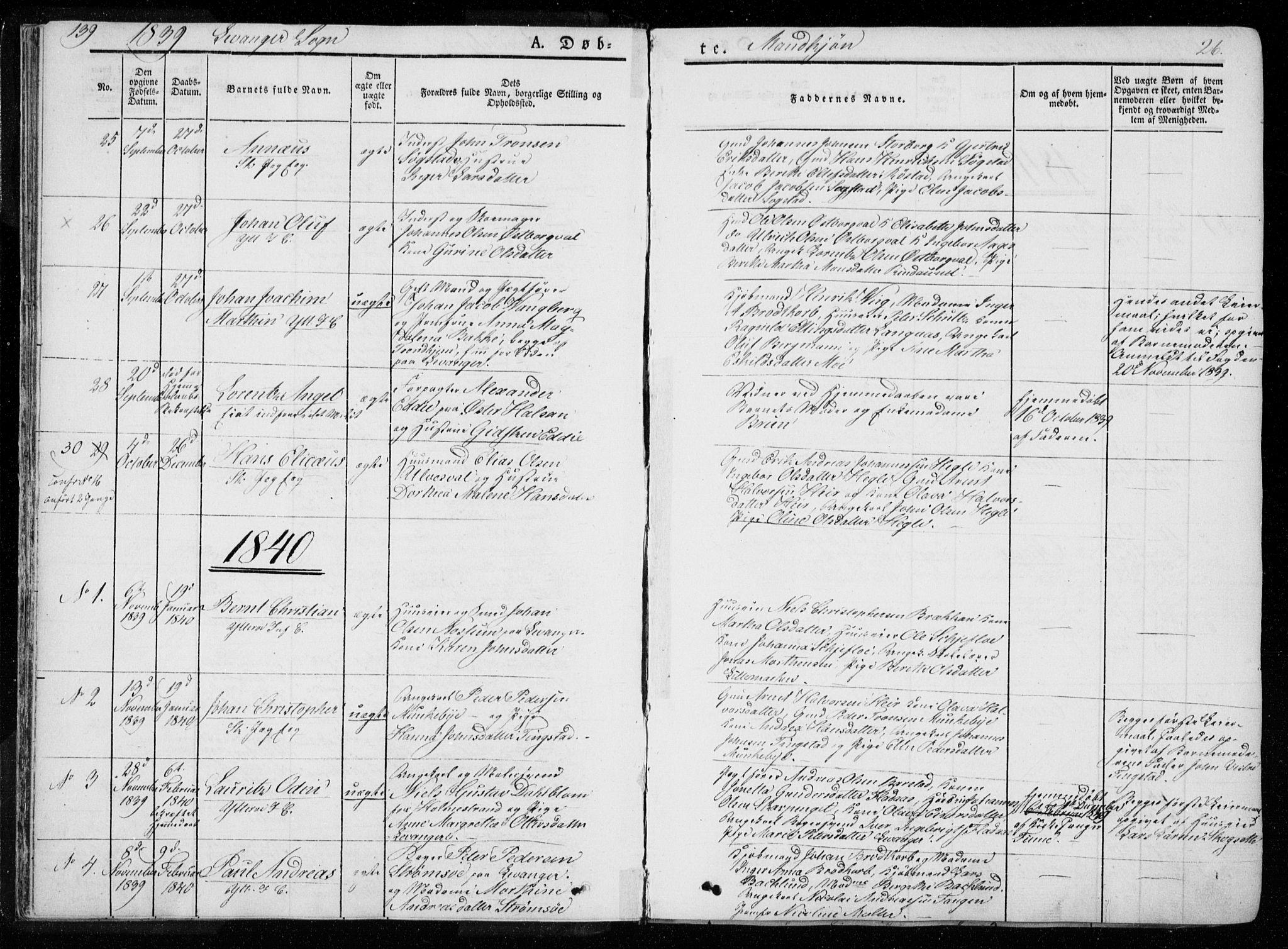 SAT, Ministerialprotokoller, klokkerbøker og fødselsregistre - Nord-Trøndelag, 720/L0183: Ministerialbok nr. 720A01, 1836-1855, s. 26