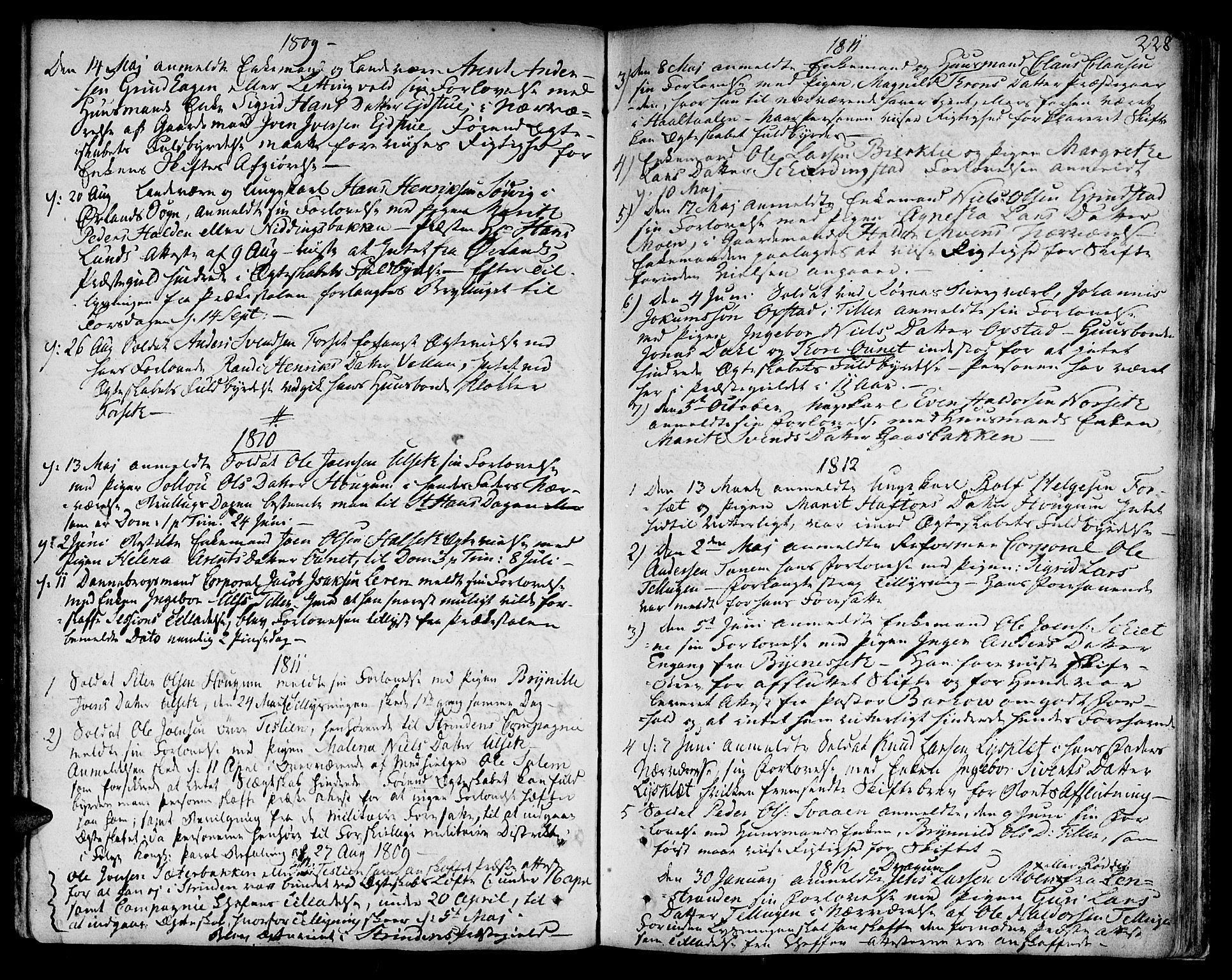 SAT, Ministerialprotokoller, klokkerbøker og fødselsregistre - Sør-Trøndelag, 618/L0438: Ministerialbok nr. 618A03, 1783-1815, s. 228