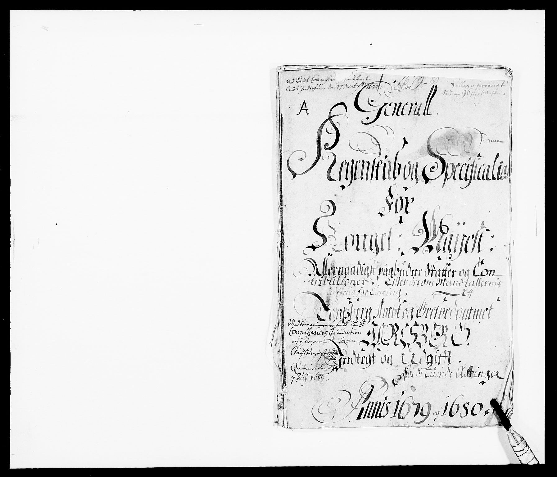 RA, Rentekammeret inntil 1814, Reviderte regnskaper, Fogderegnskap, R32/L1846: Fogderegnskap Jarlsberg grevskap, 1679-1680, s. 1