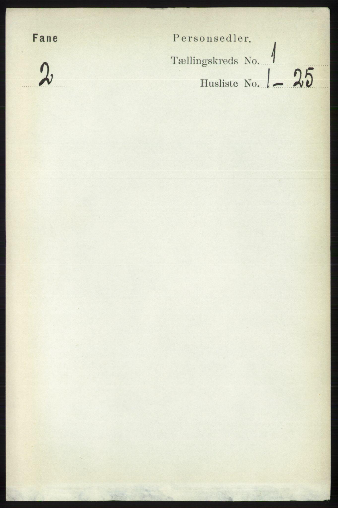 RA, Folketelling 1891 for 1249 Fana herred, 1891, s. 86