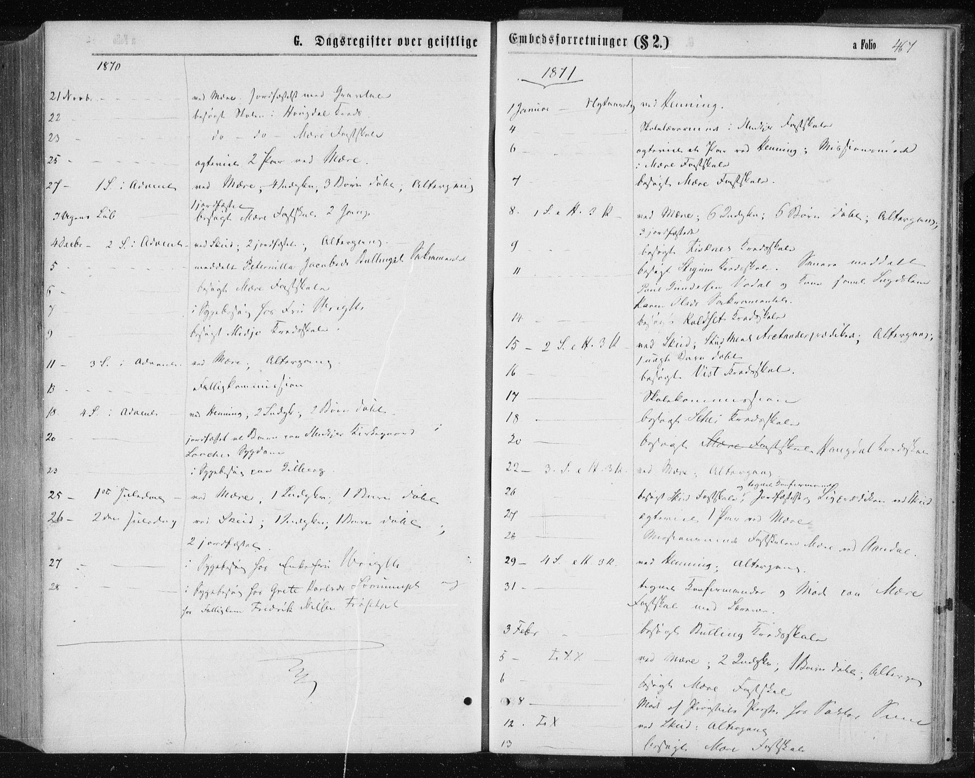 SAT, Ministerialprotokoller, klokkerbøker og fødselsregistre - Nord-Trøndelag, 735/L0345: Ministerialbok nr. 735A08 /1, 1863-1872, s. 467