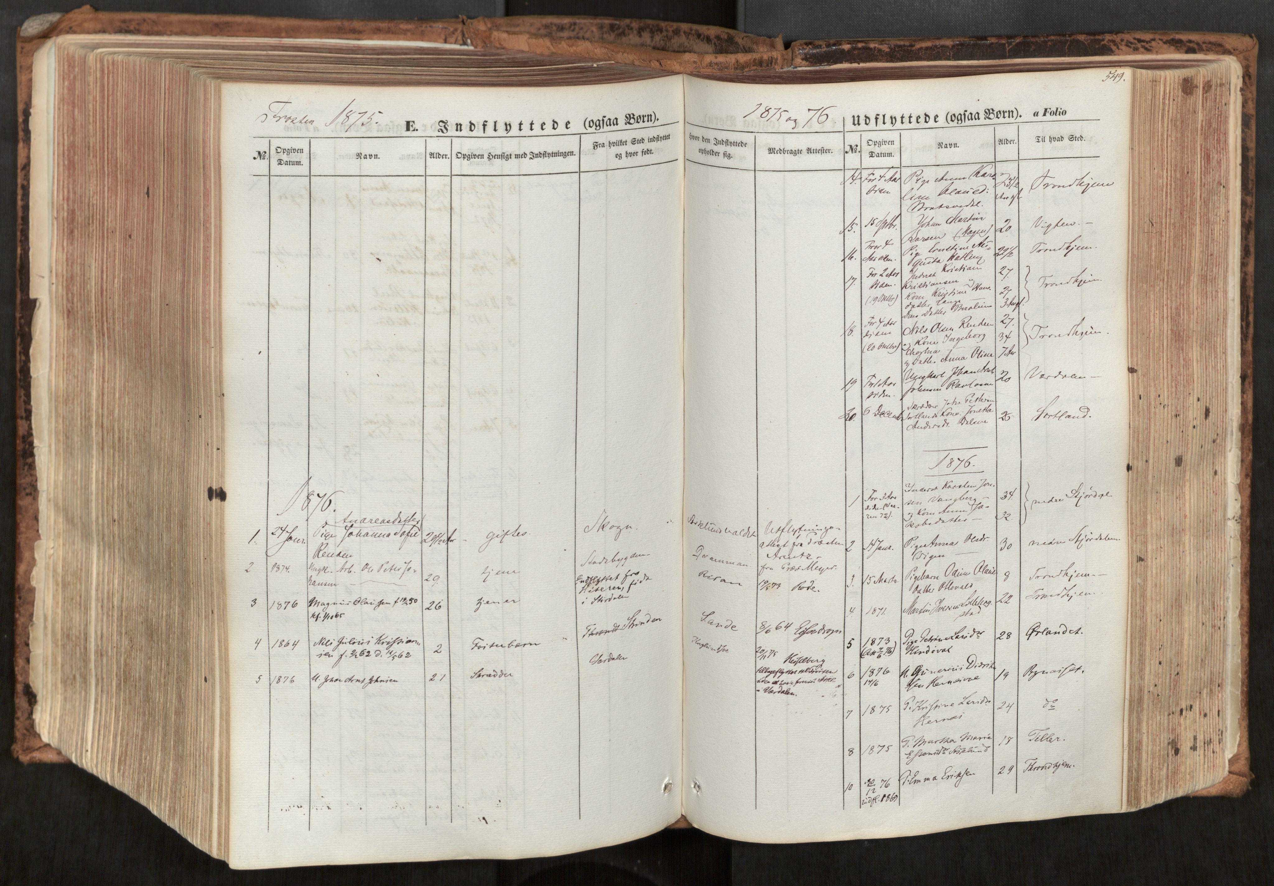 SAT, Ministerialprotokoller, klokkerbøker og fødselsregistre - Nord-Trøndelag, 713/L0116: Ministerialbok nr. 713A07, 1850-1877, s. 549